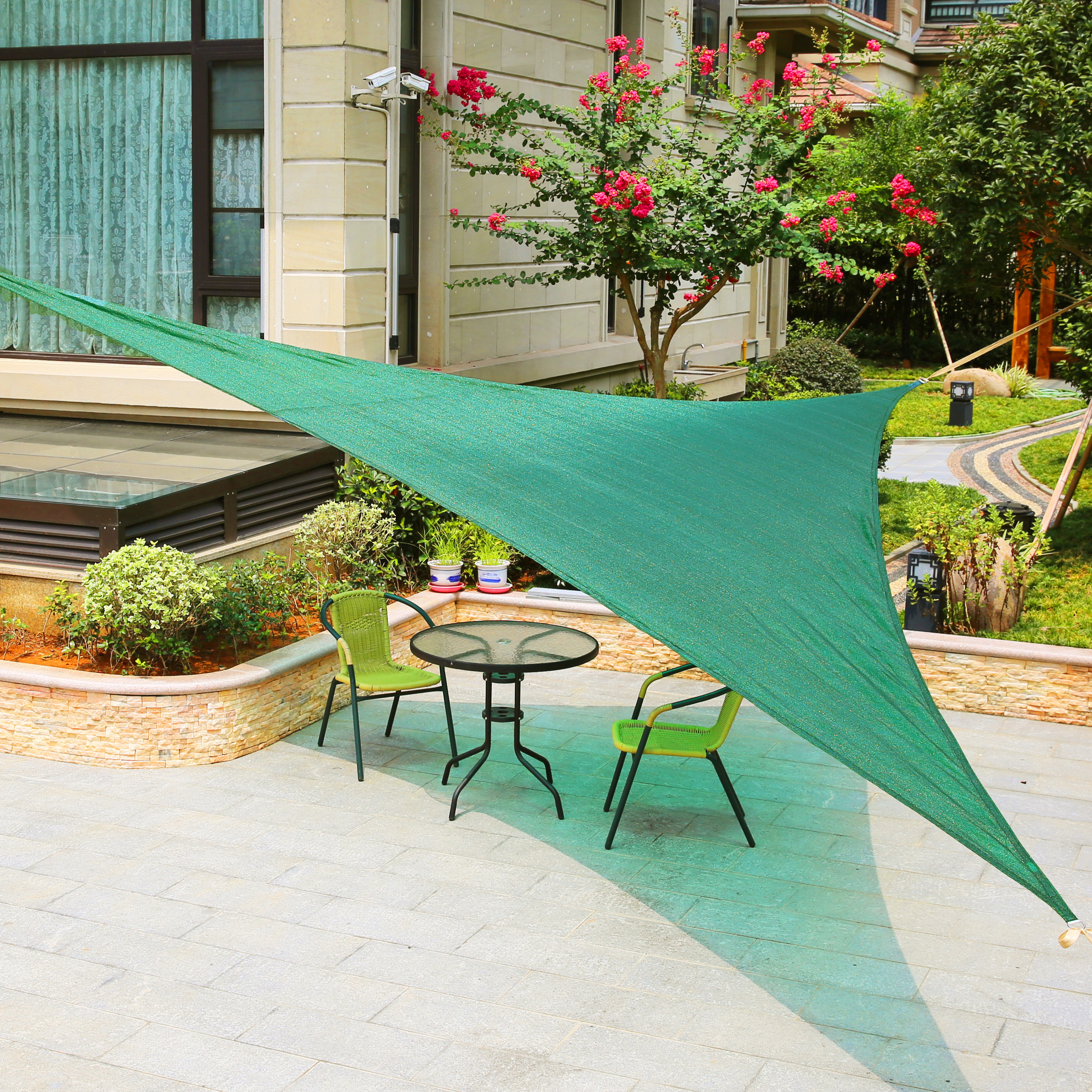 "LyShade 16'5"" Right Triangle Sun Shade Sail Canopy"