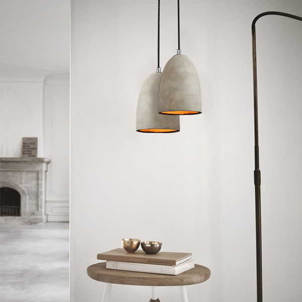 light contemporary concrete pendant indoors lighting industrial cafe