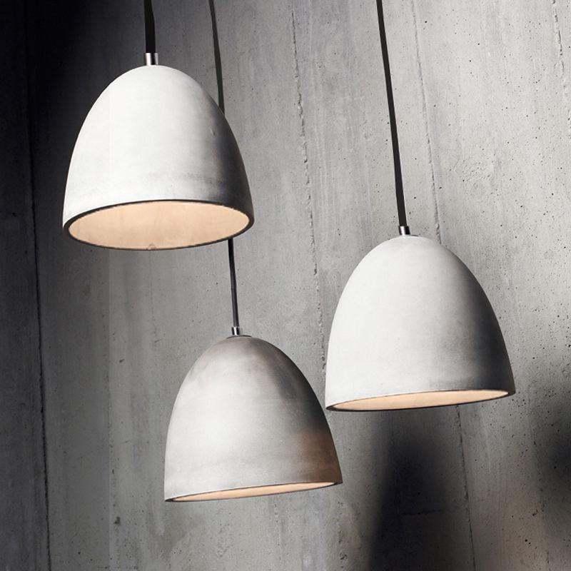 Pendant Light Industrial Lamps Ceiling Concrete Lighting