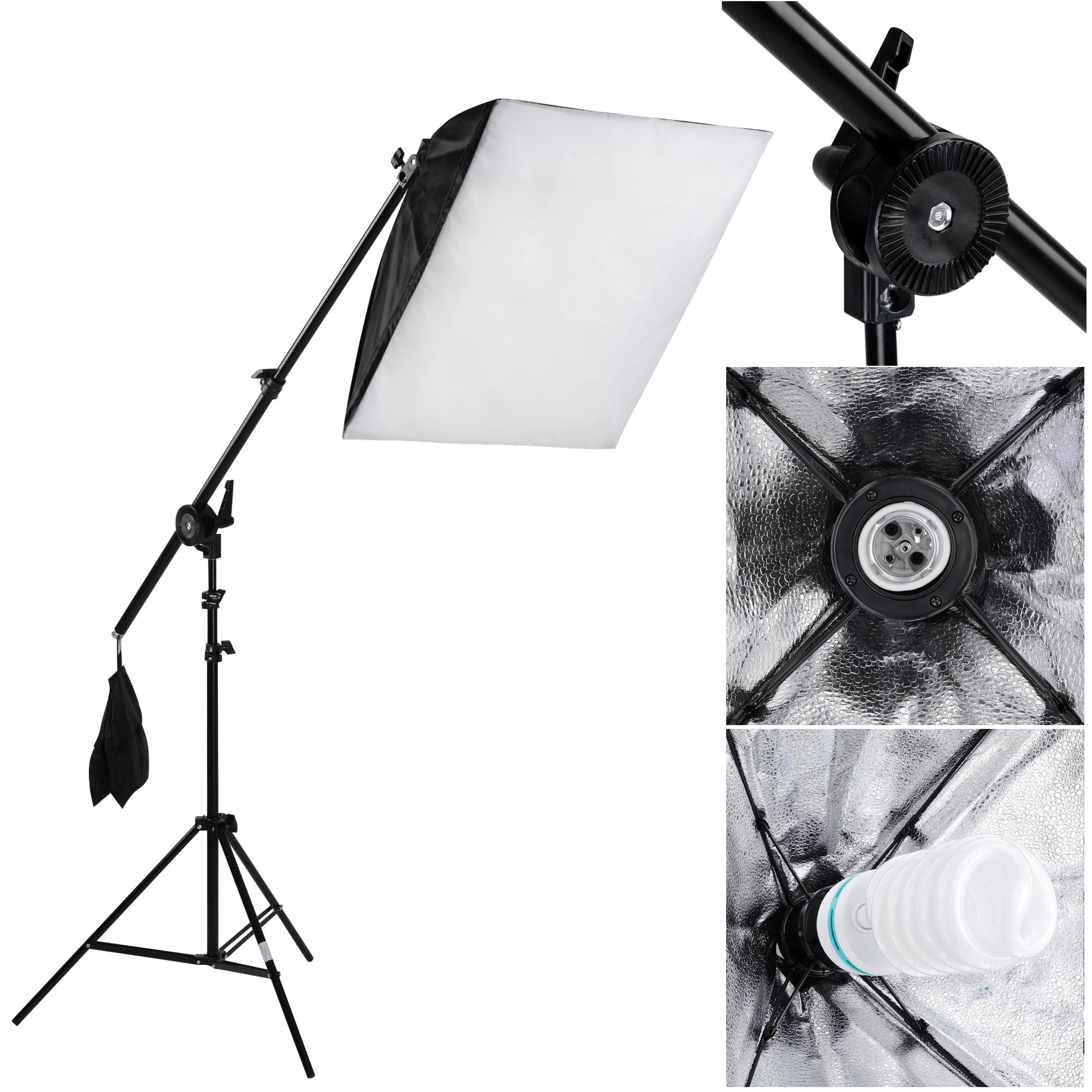 am studio lighting. Photography Studio Continuous Lighting Softbox Boom Arm Light Backdrop Stand Kit Am