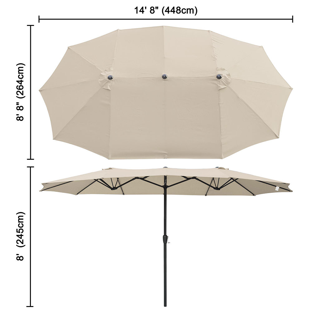 2-5m-2-7m-3m-Round-Square-Garden-Parasol-Shade-Outdoor-Patio-Umbrella-Crank-Tilt thumbnail 243