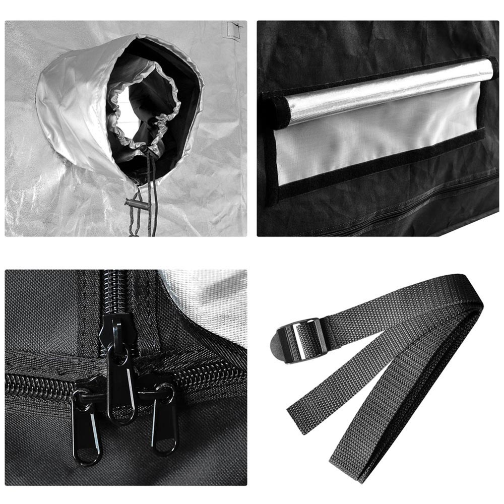 Hydroponics-Grow-Tent-Kits-Reflective-Mylar-Indoor-Tarps-Plant-Room-Oxford-Cloth thumbnail 17