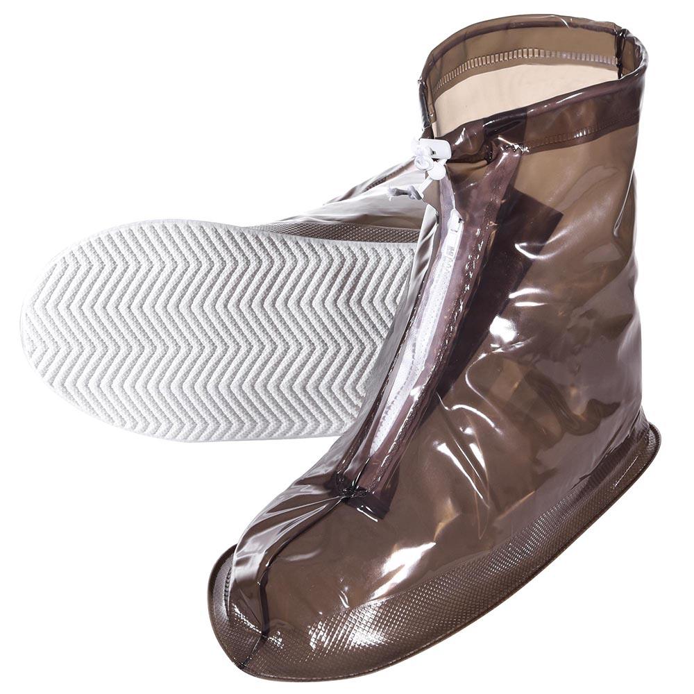 Reusable Waterproof Anti-slip w/ Zip Rain Boot Shoe Covers ...