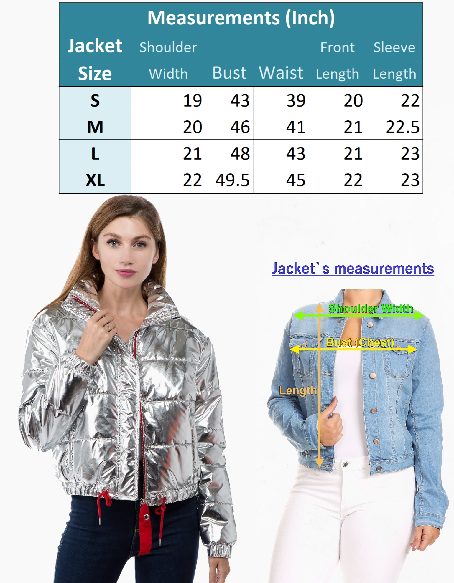 Women-039-s-Juniors-Metallic-Quilted-Poly-Filled-Winter-Fall-Fashion-Jacket-Coat thumbnail 9