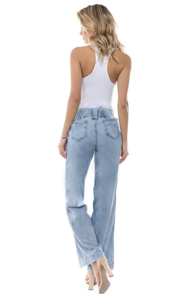 Women-039-s-Juniors-Bootleg-Elastic-Waist-Lose-Fit-Premium-Bootcut-Jeans thumbnail 7