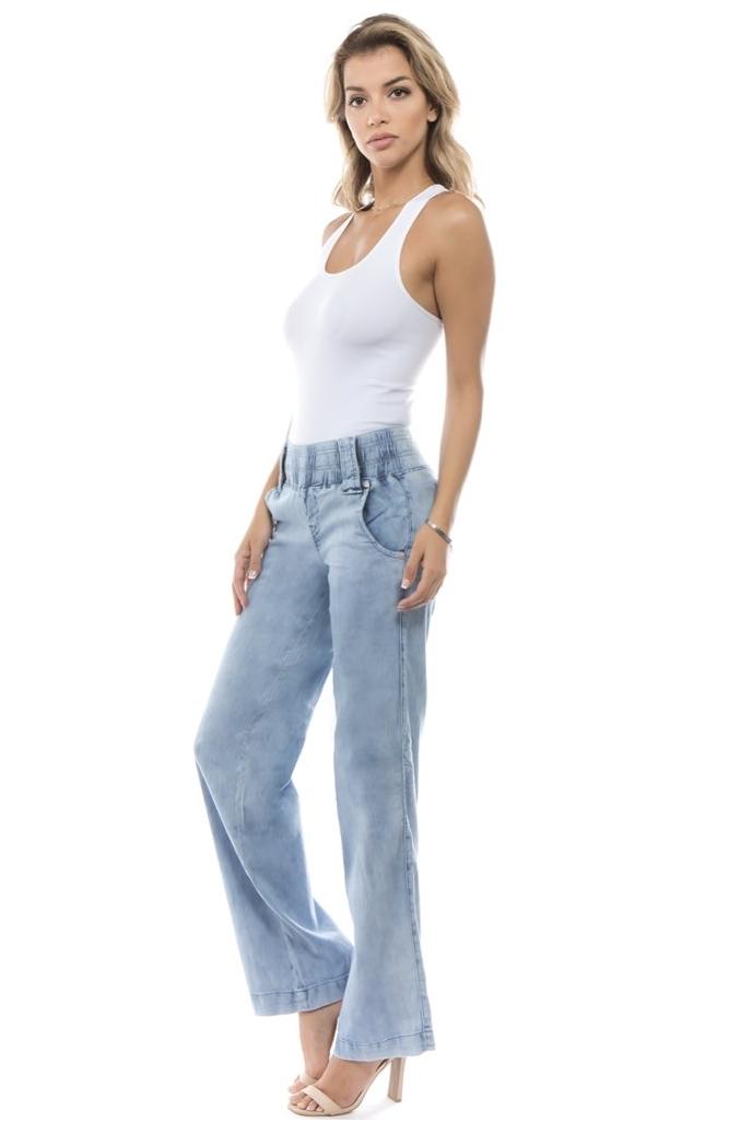 Women-039-s-Juniors-Bootleg-Elastic-Waist-Lose-Fit-Premium-Bootcut-Jeans thumbnail 6