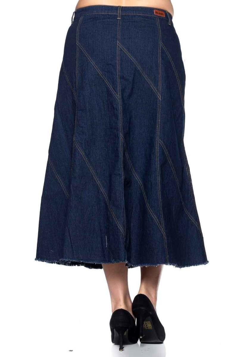 90b7f3ea7 Plus Size Maxi Denim Skirts