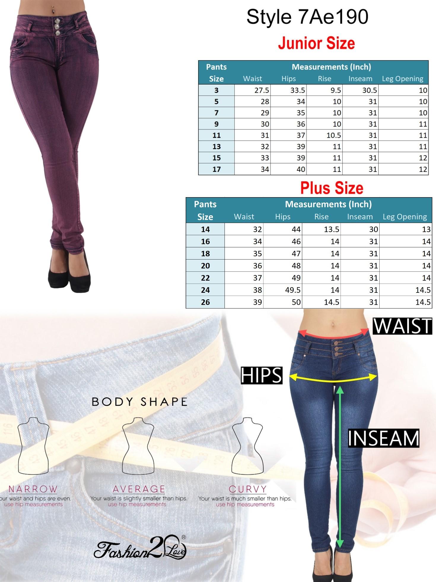 Plus-Junior-Size-Butt-Lift-Levanta-Cola-Skinny-Denim-Women-Jeans thumbnail 14