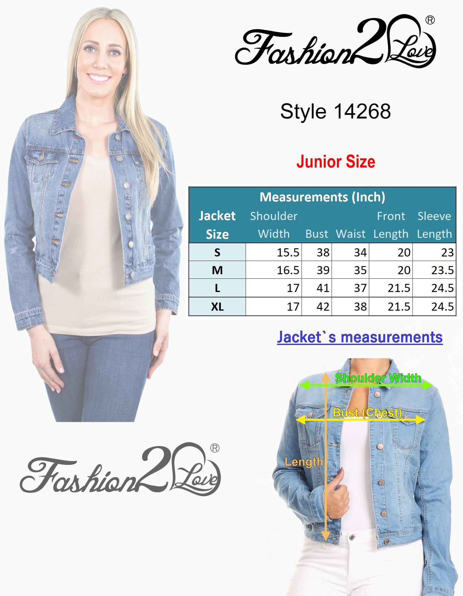 Women-039-s-Juniors-Premium-Distressed-Denim-Long-Sleeve-Jacket thumbnail 10