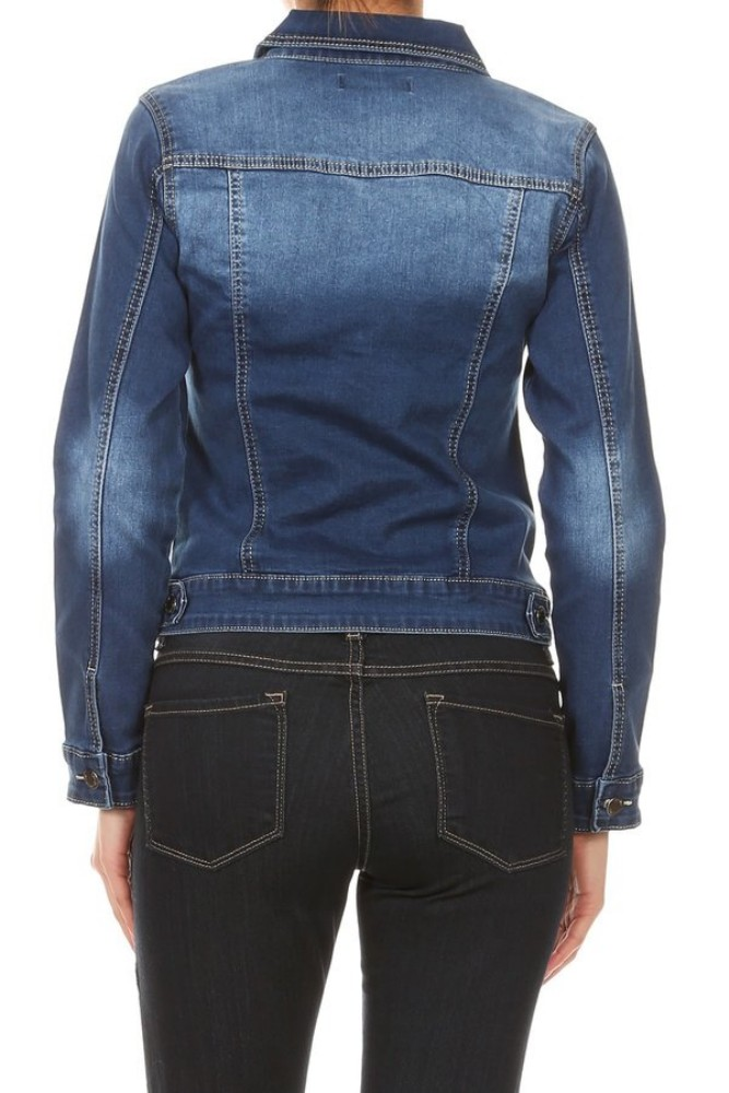 Women-s-Juniors-Premium-Stretch-Denim-Long-Sleeve-Jacket thumbnail 15