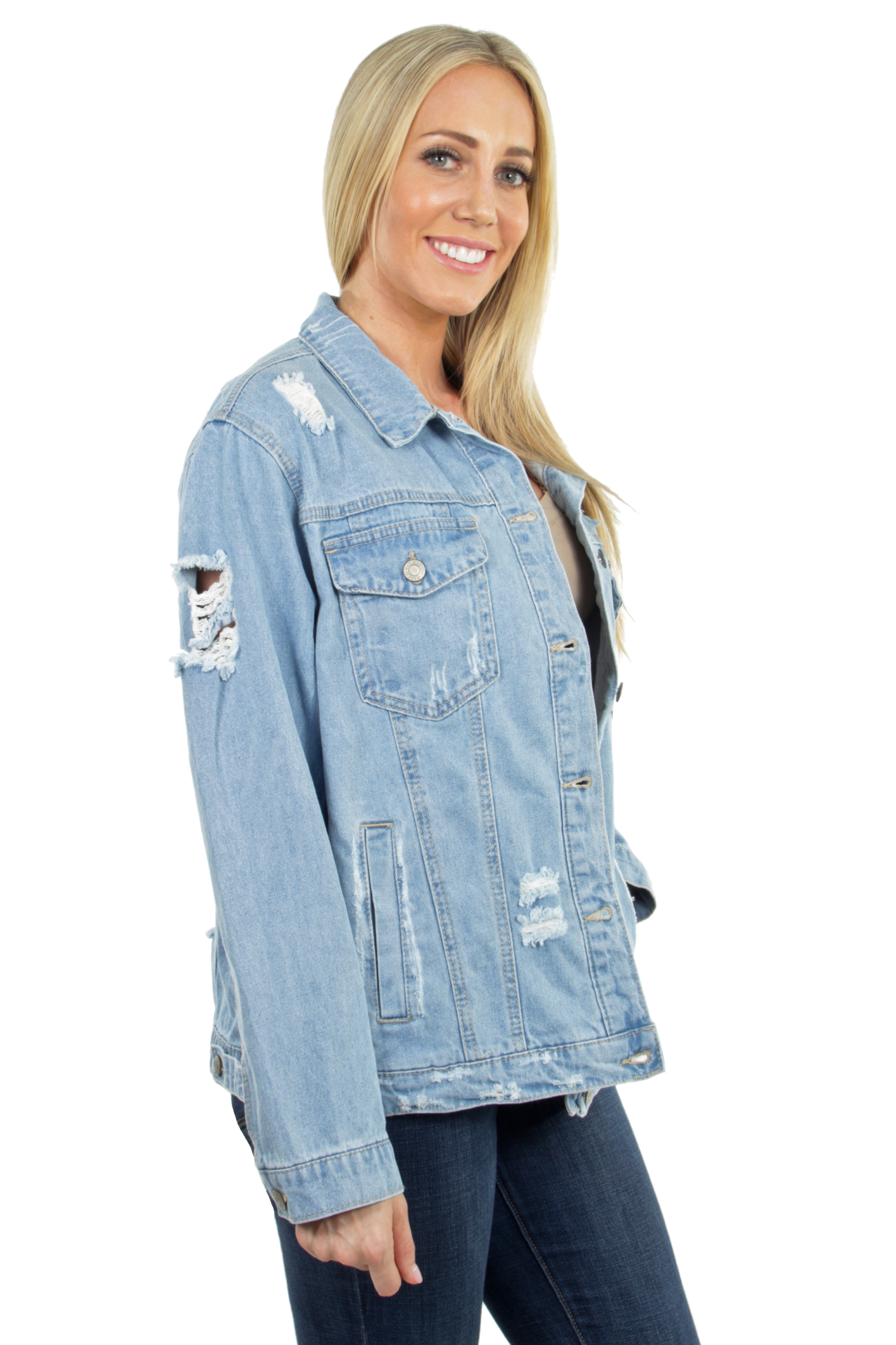 Women-039-s-Plus-Size-Oversize-Ripped-Denim-Jackets-Long-Sleeve-Jean-Coats thumbnail 21