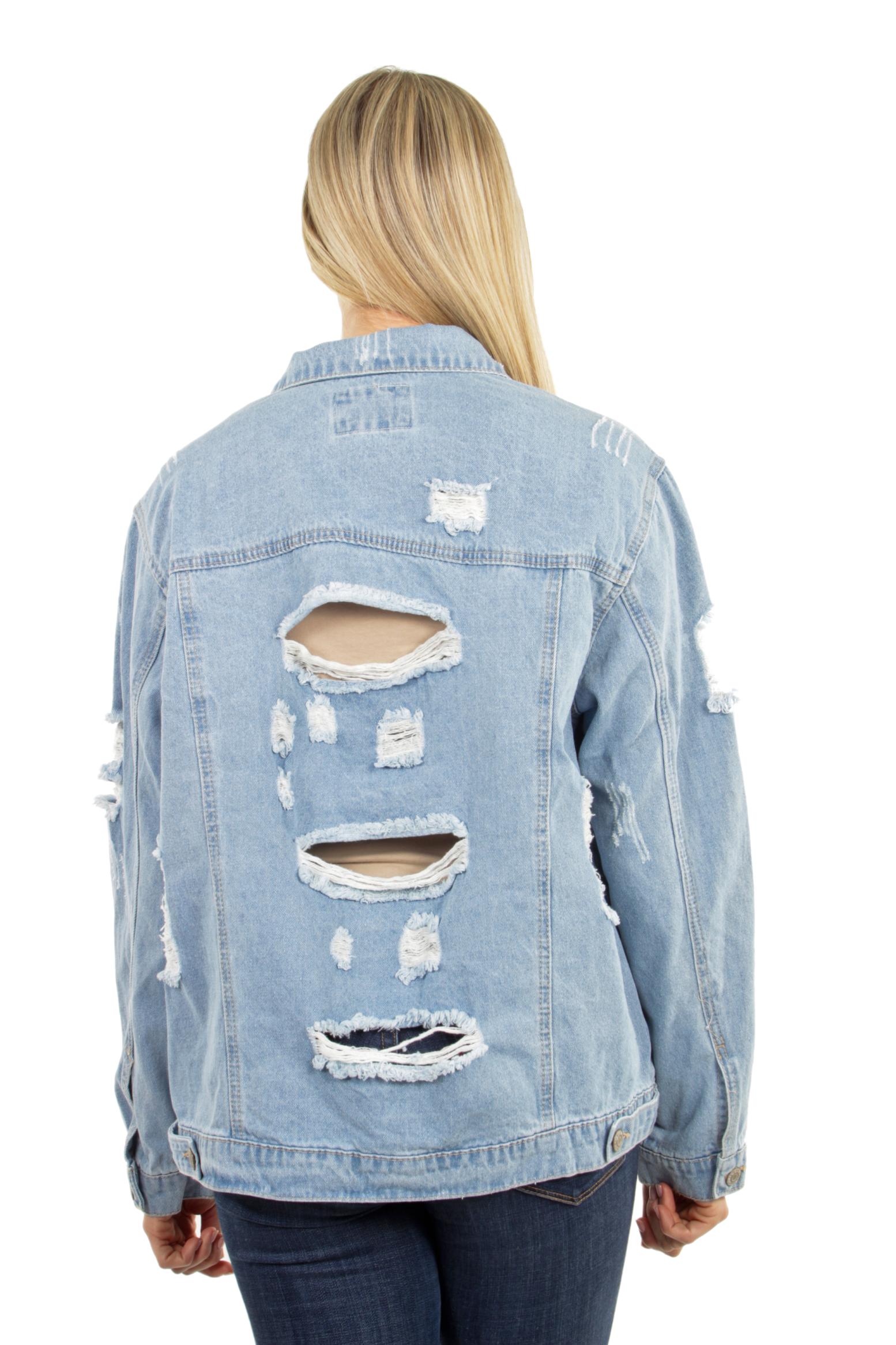 Women-039-s-Plus-Size-Oversize-Ripped-Denim-Jackets-Long-Sleeve-Jean-Coats thumbnail 23