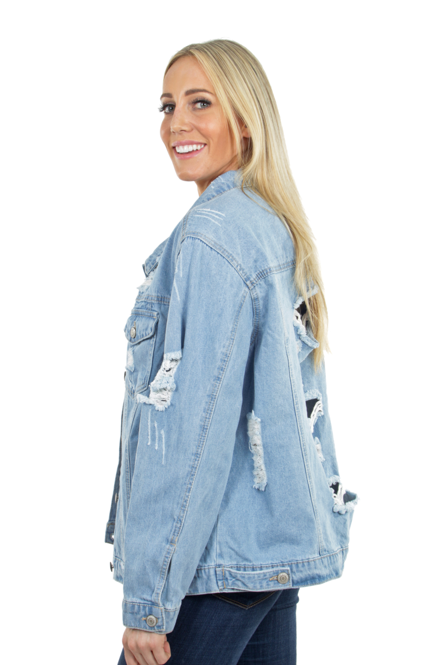 Women-039-s-Plus-Size-Oversize-Ripped-Denim-Jackets-Long-Sleeve-Jean-Coats thumbnail 20
