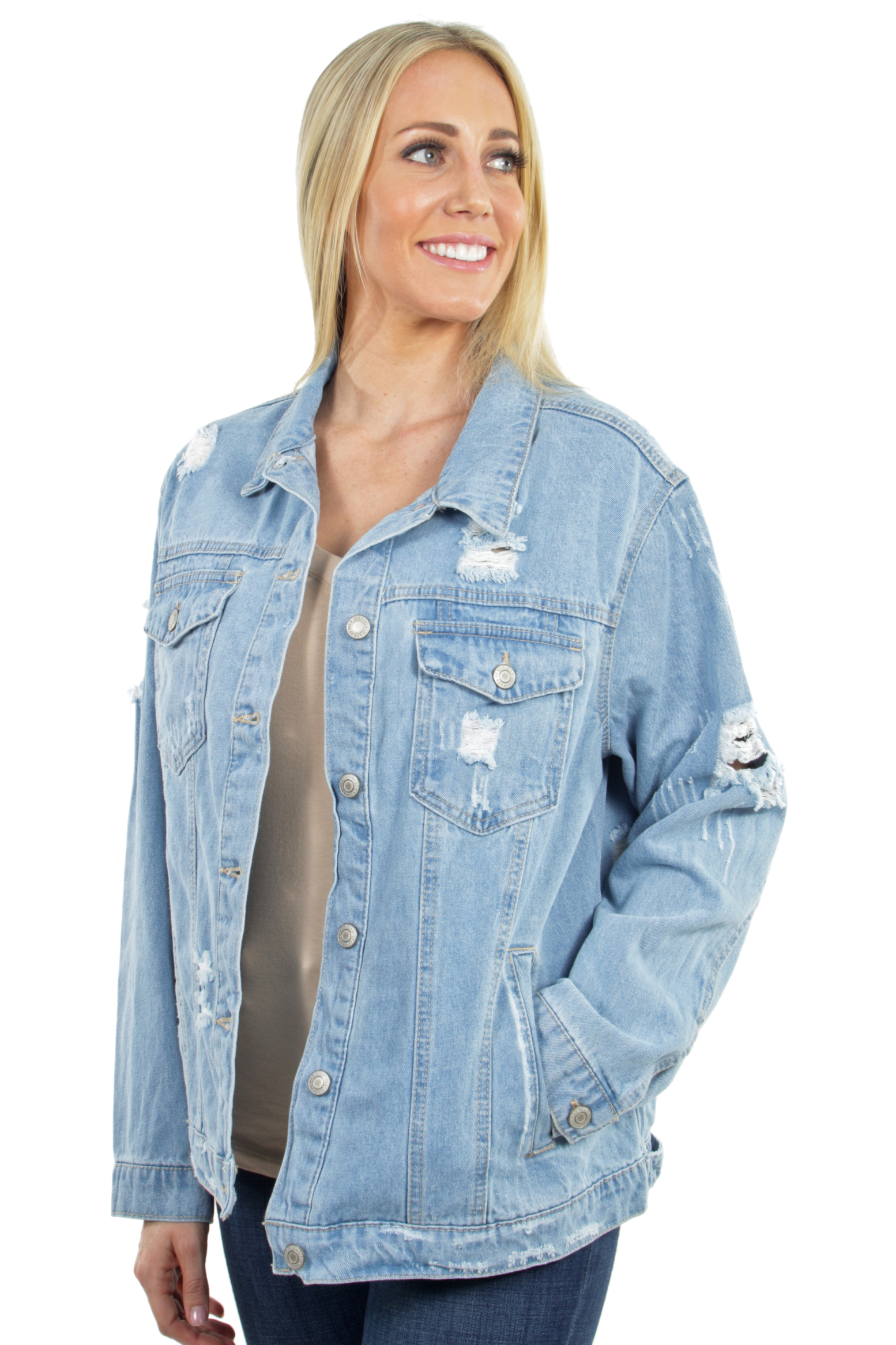 Women-039-s-Plus-Size-Oversize-Ripped-Denim-Jackets-Long-Sleeve-Jean-Coats thumbnail 19