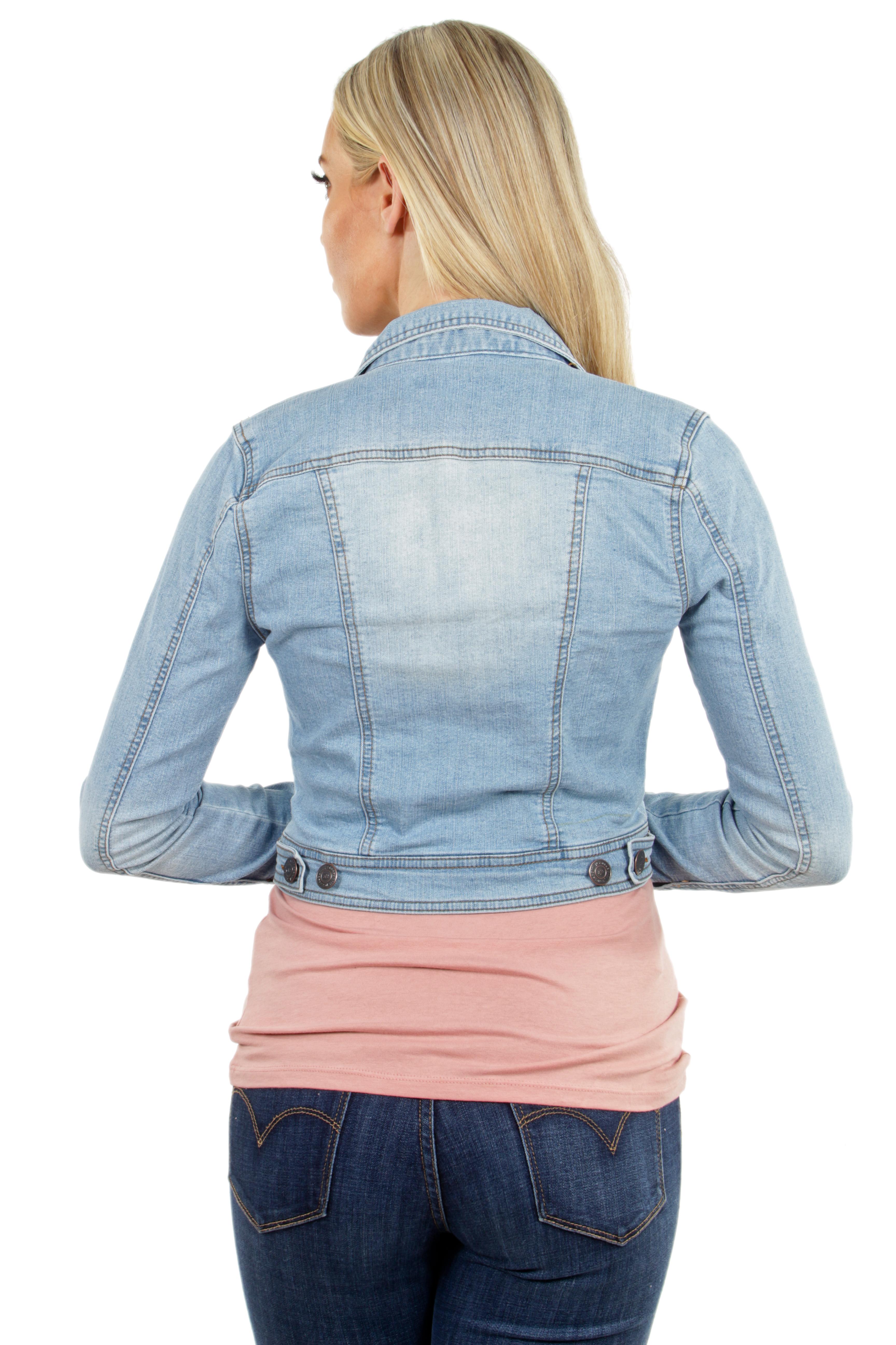 Women-039-s-Juniors-Premium-Stretch-Denim-Long-Sleeve-Jacket thumbnail 7
