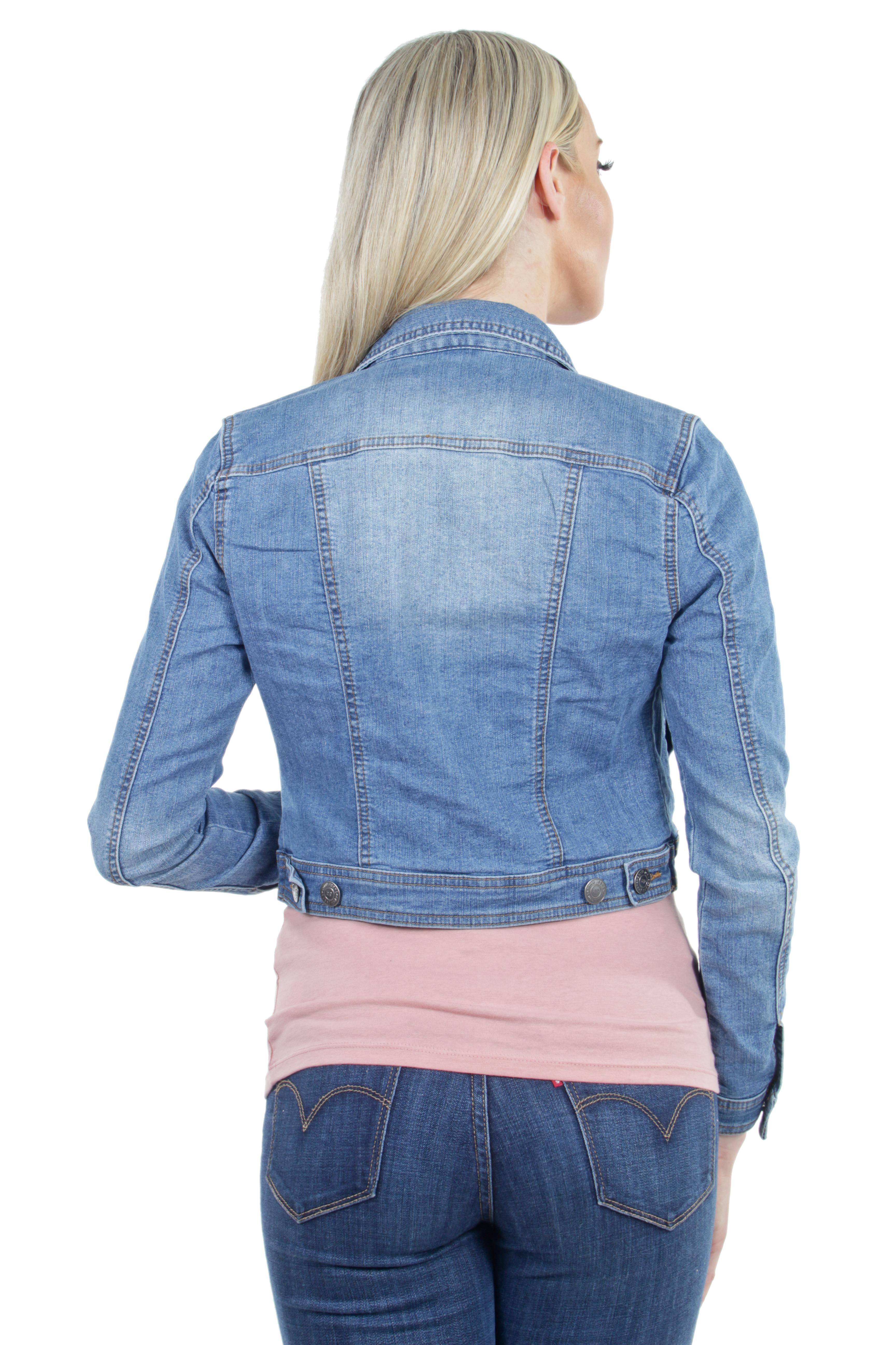 Women-039-s-Juniors-Premium-Stretch-Denim-Long-Sleeve-Jacket thumbnail 13