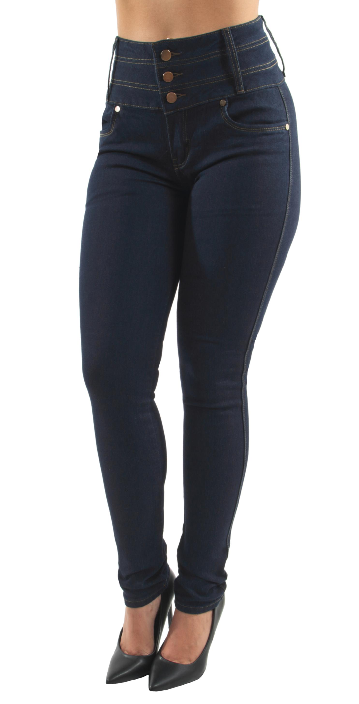 d7819a8bcb134a Fashion2Love - Women s Juniors Colombian Design Butt Lift Push Up High Waist  Skinny Jeans