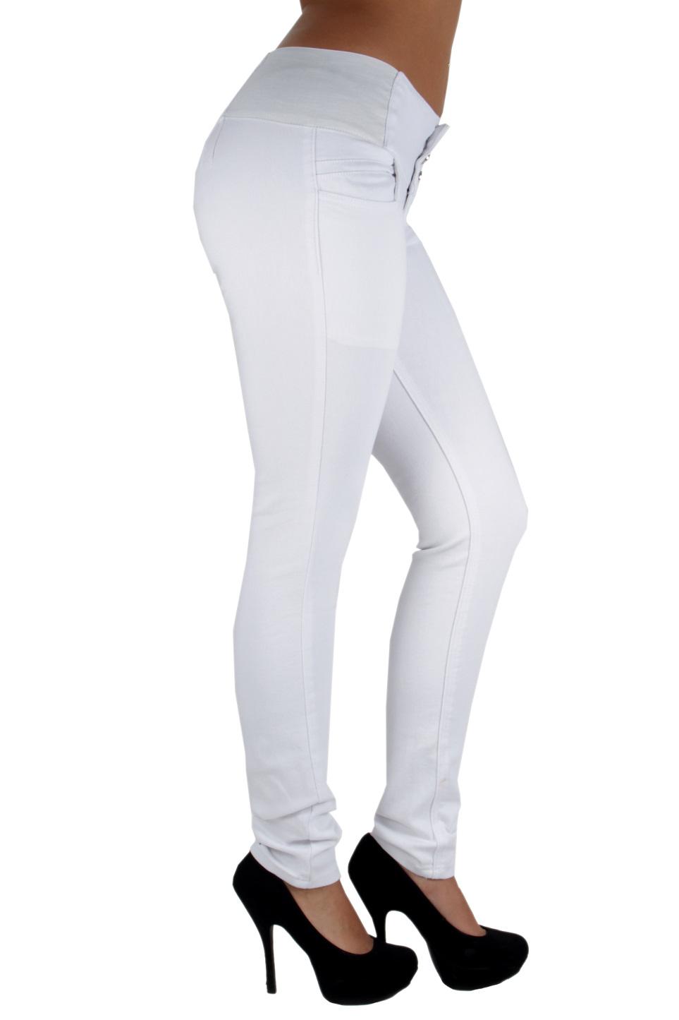 Colombian-Design-Levanta-Cola-Elastic-Mid-Waist-Skinny-Jeans