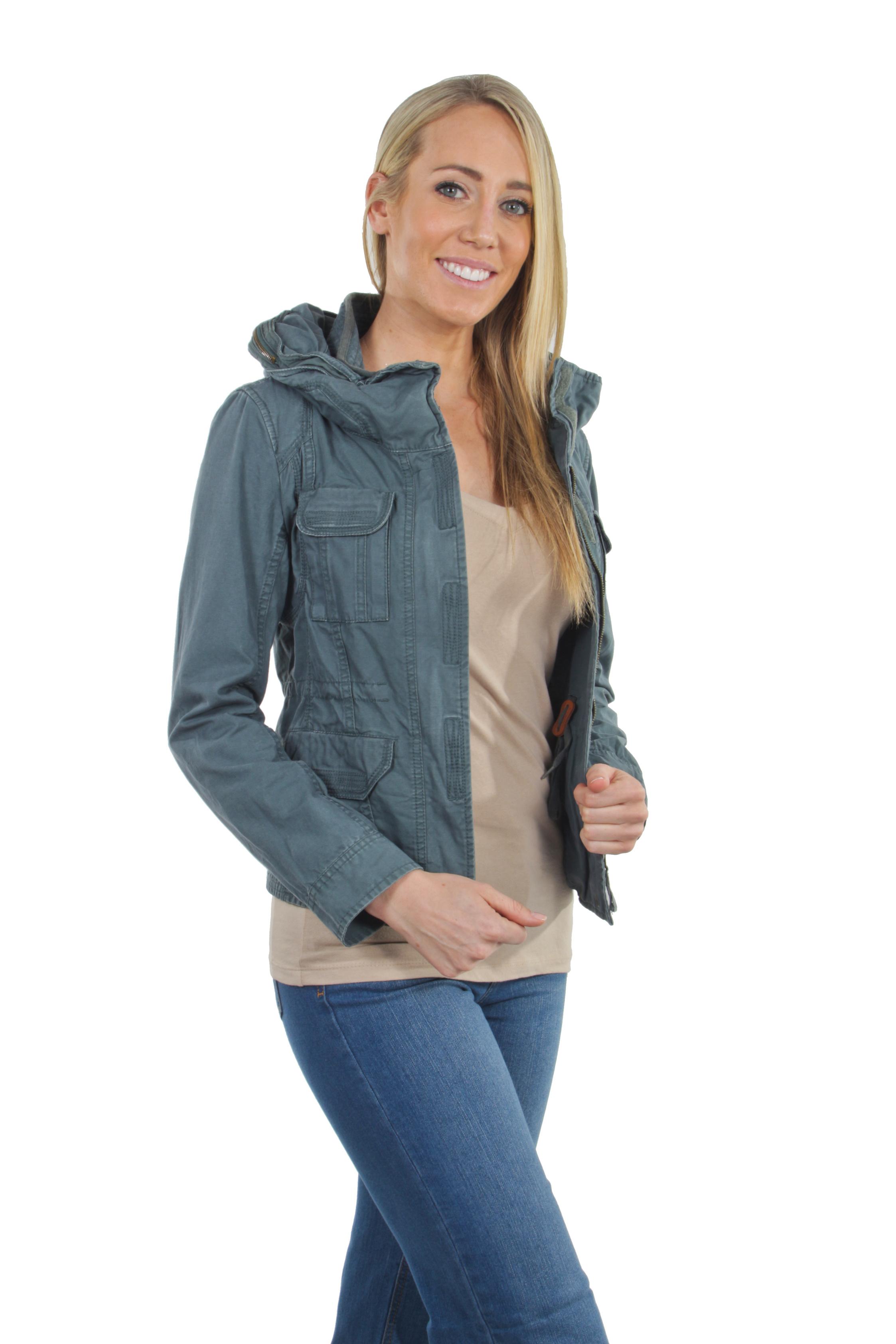 Women-039-s-Juniors-Anorak-Safari-Hoodie-Long-Sleeve-Jacket thumbnail 11