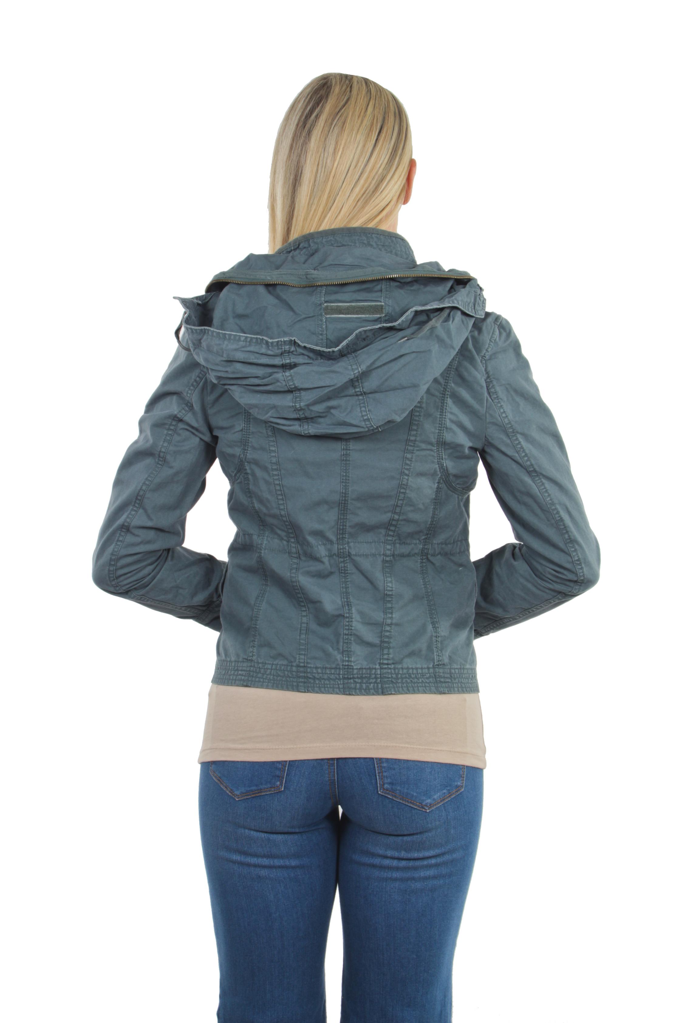 Women-039-s-Juniors-Anorak-Safari-Hoodie-Long-Sleeve-Jacket thumbnail 15