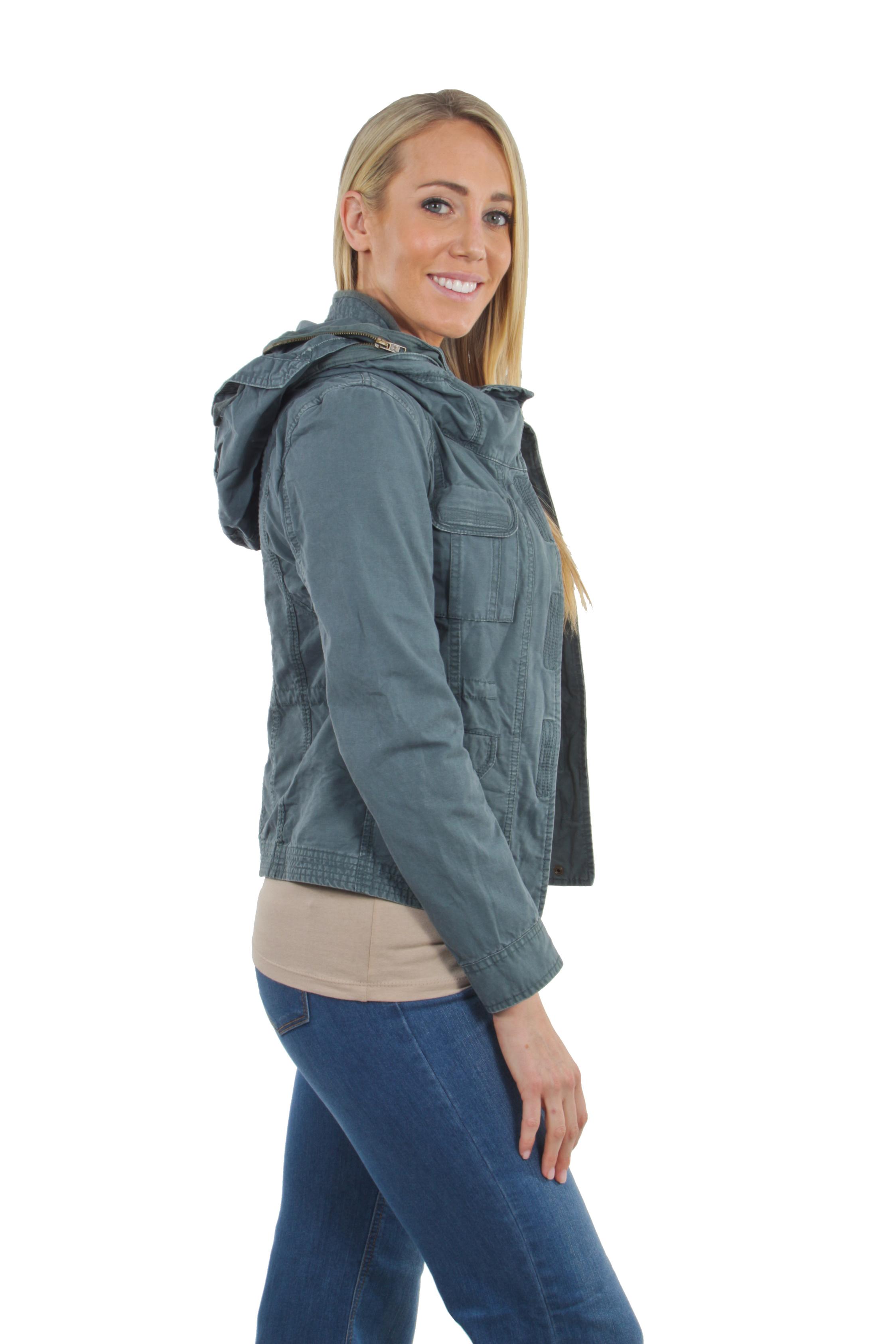 Women-039-s-Juniors-Anorak-Safari-Hoodie-Long-Sleeve-Jacket thumbnail 14