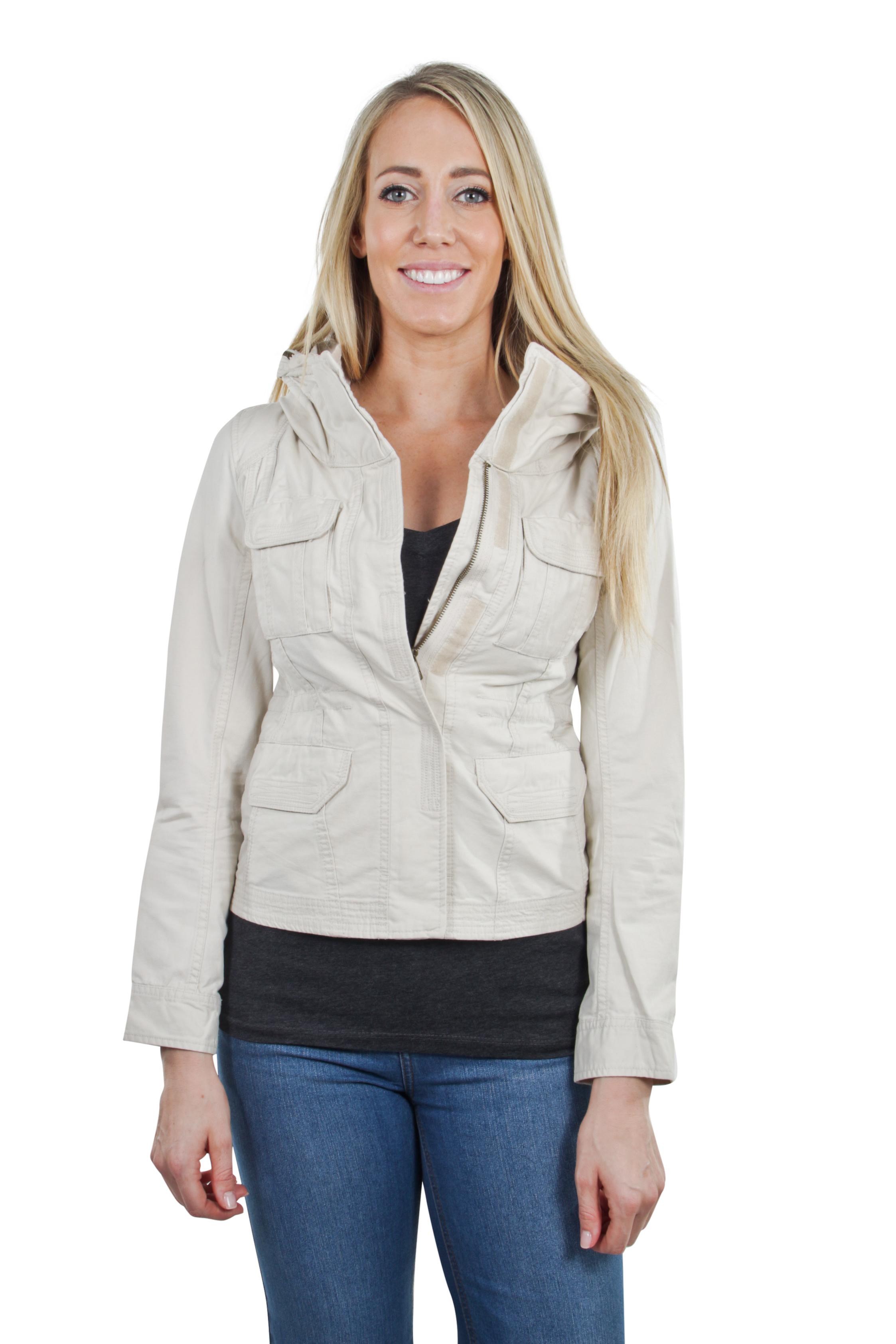 Women-039-s-Juniors-Anorak-Safari-Hoodie-Long-Sleeve-Jacket thumbnail 5