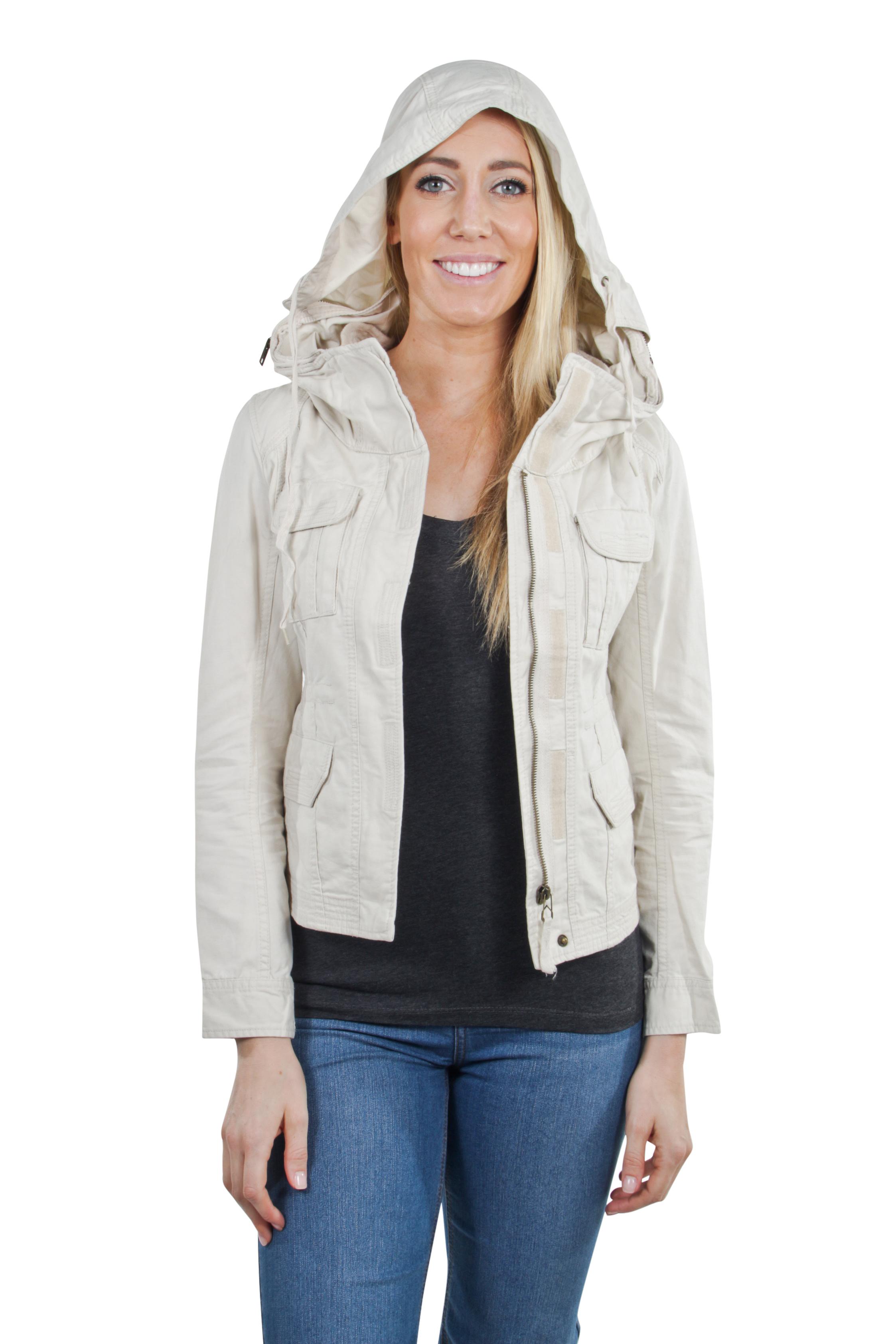 Women-039-s-Juniors-Anorak-Safari-Hoodie-Long-Sleeve-Jacket thumbnail 6
