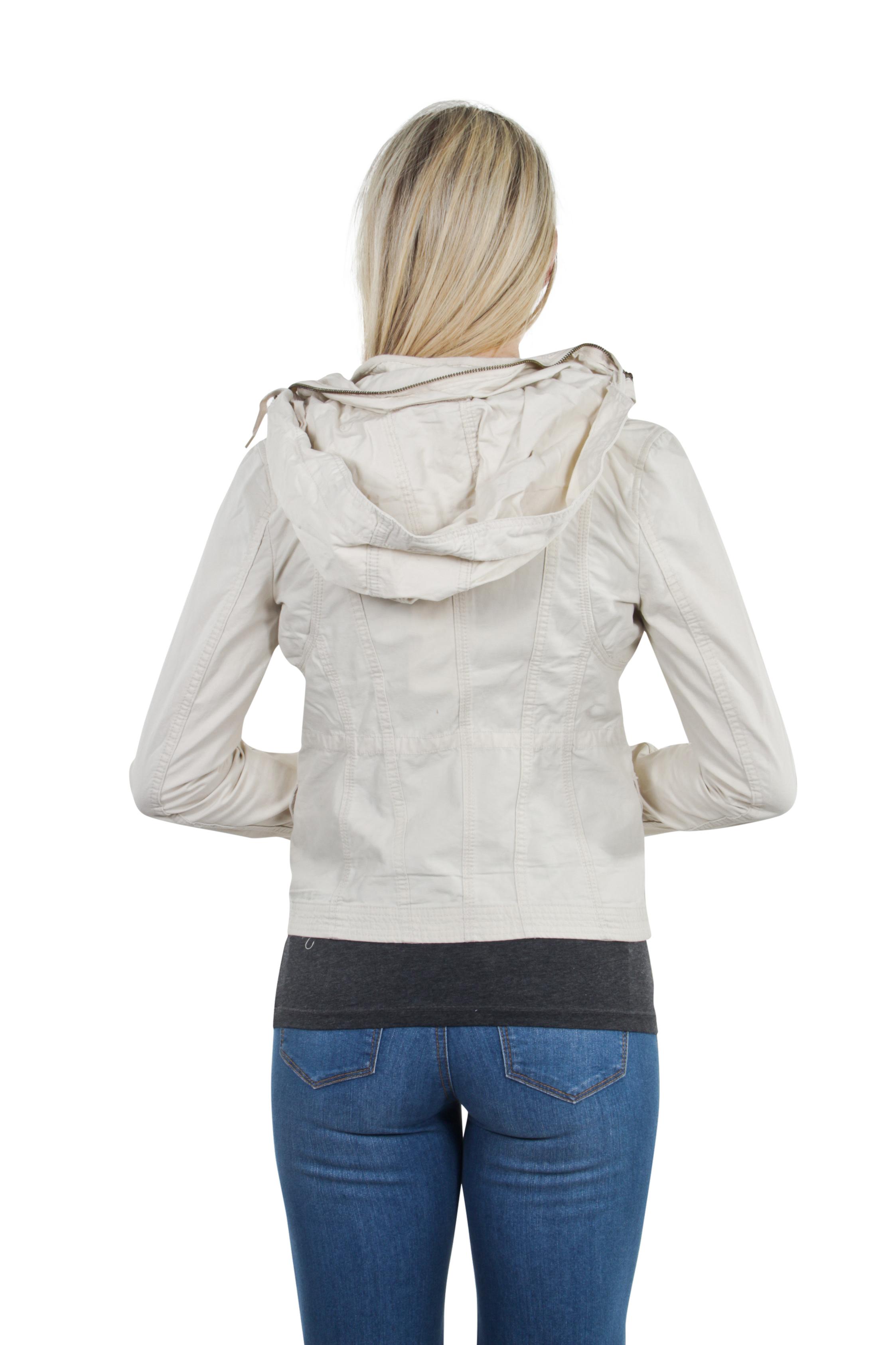Women-039-s-Juniors-Anorak-Safari-Hoodie-Long-Sleeve-Jacket thumbnail 8