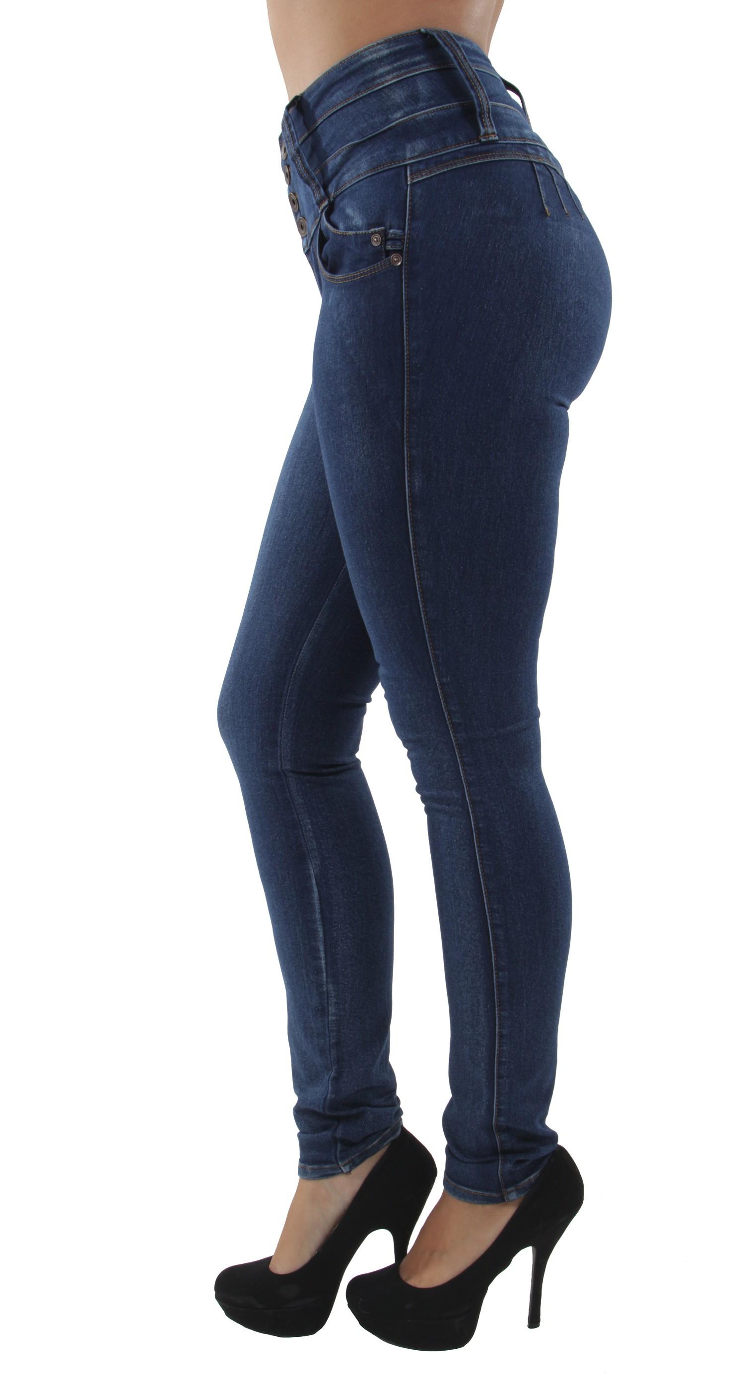 High Waist Colombian Design Butt Lift Push Up Skinny Jeans