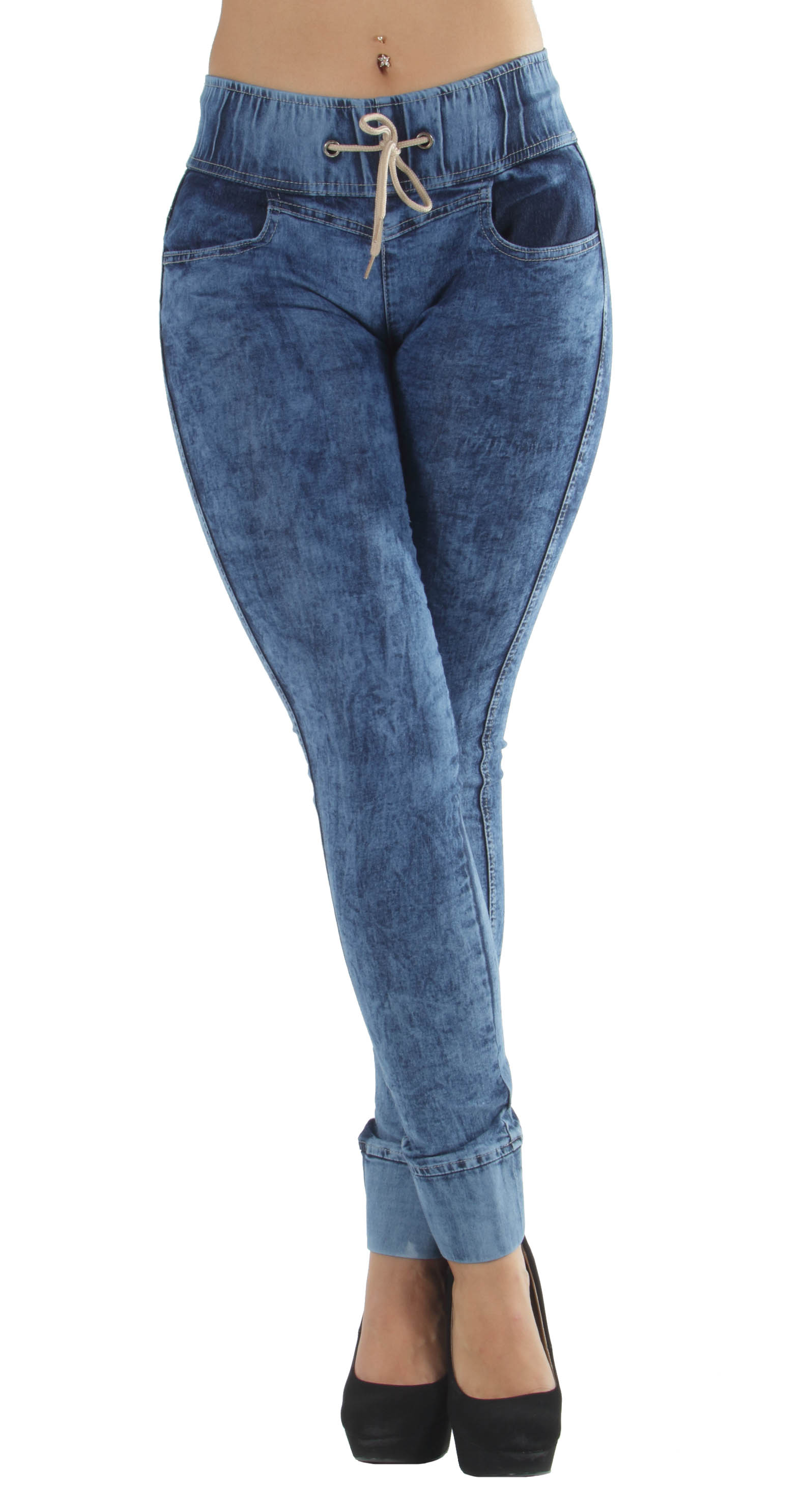 N967-Colombian-Design-Butt-Lifting-Levanta-Cola-Elastic-Waist-Skinny-Jeans