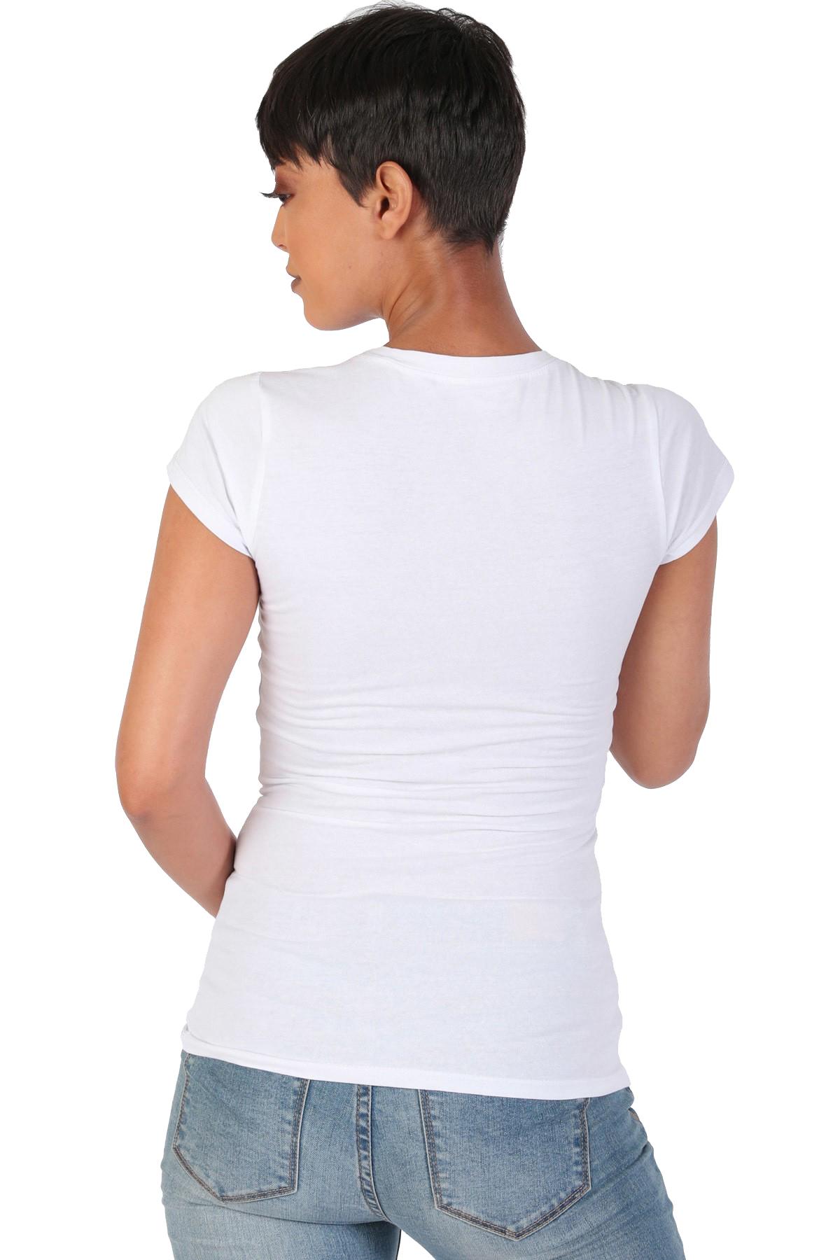 Women-039-s-Juniors-Patriotic-Casual-Graphic-Print-Short-Sleeve-T-Shirt-Top thumbnail 12