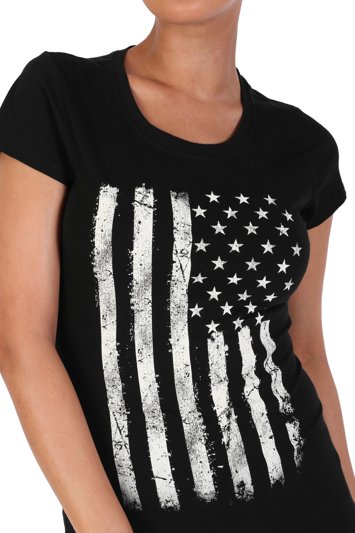 Women-039-s-Juniors-Patriotic-Casual-Graphic-Print-Short-Sleeve-T-Shirt-Top thumbnail 5