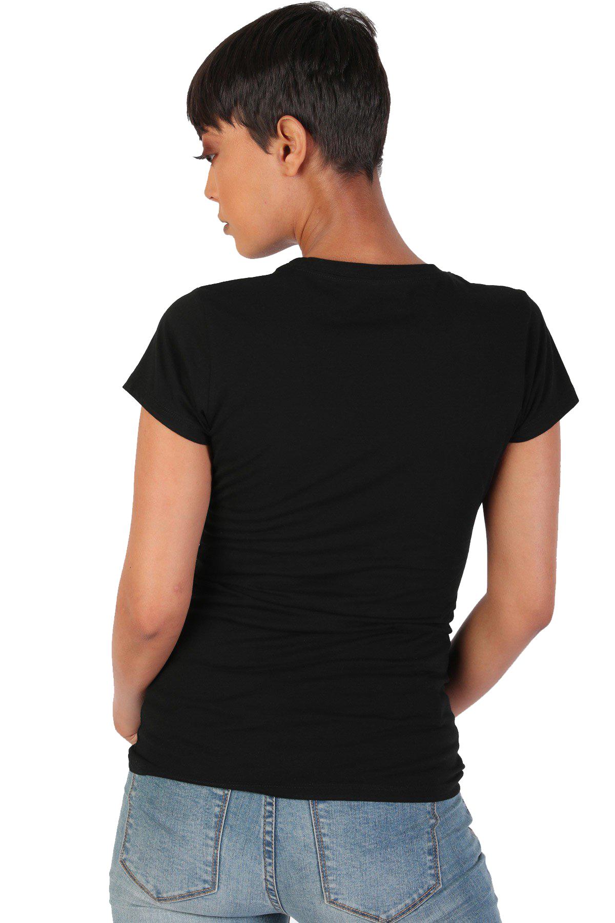 Women-039-s-Juniors-Patriotic-Casual-Graphic-Print-Short-Sleeve-T-Shirt-Top thumbnail 7