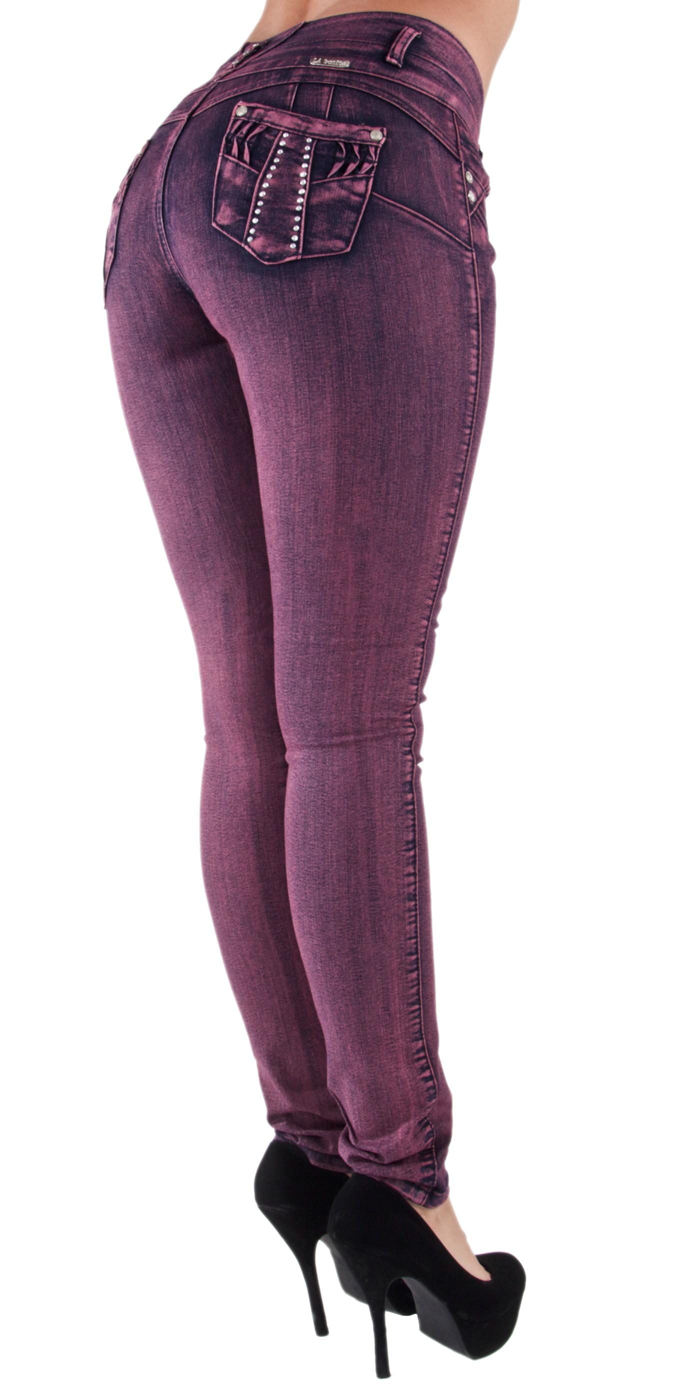 Plus-Junior-Size-Butt-Lift-Levanta-Cola-Skinny-Denim-Women-Jeans thumbnail 13