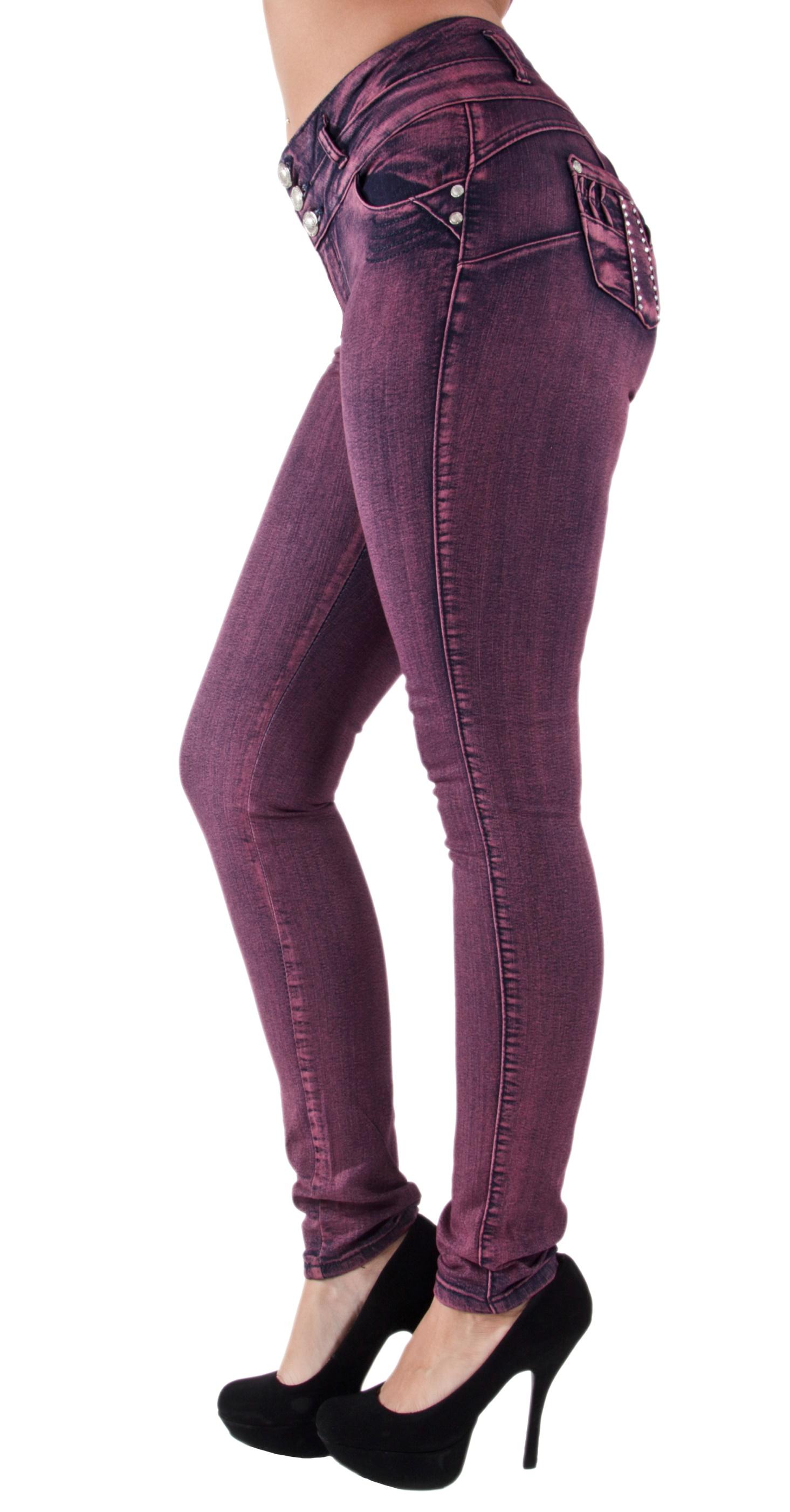 Plus-Junior-Size-Butt-Lift-Levanta-Cola-Skinny-Denim-Women-Jeans thumbnail 10