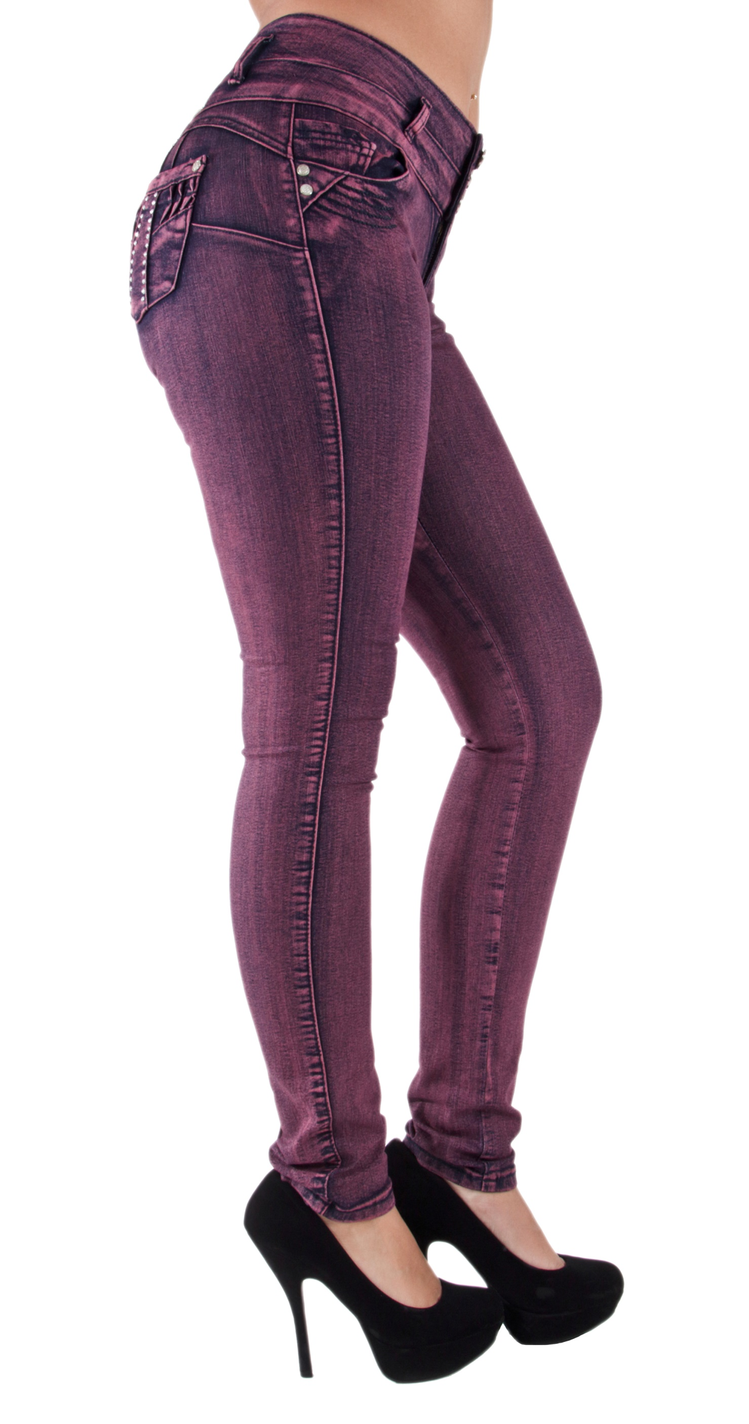 Plus-Junior-Size-Butt-Lift-Levanta-Cola-Skinny-Denim-Women-Jeans thumbnail 11