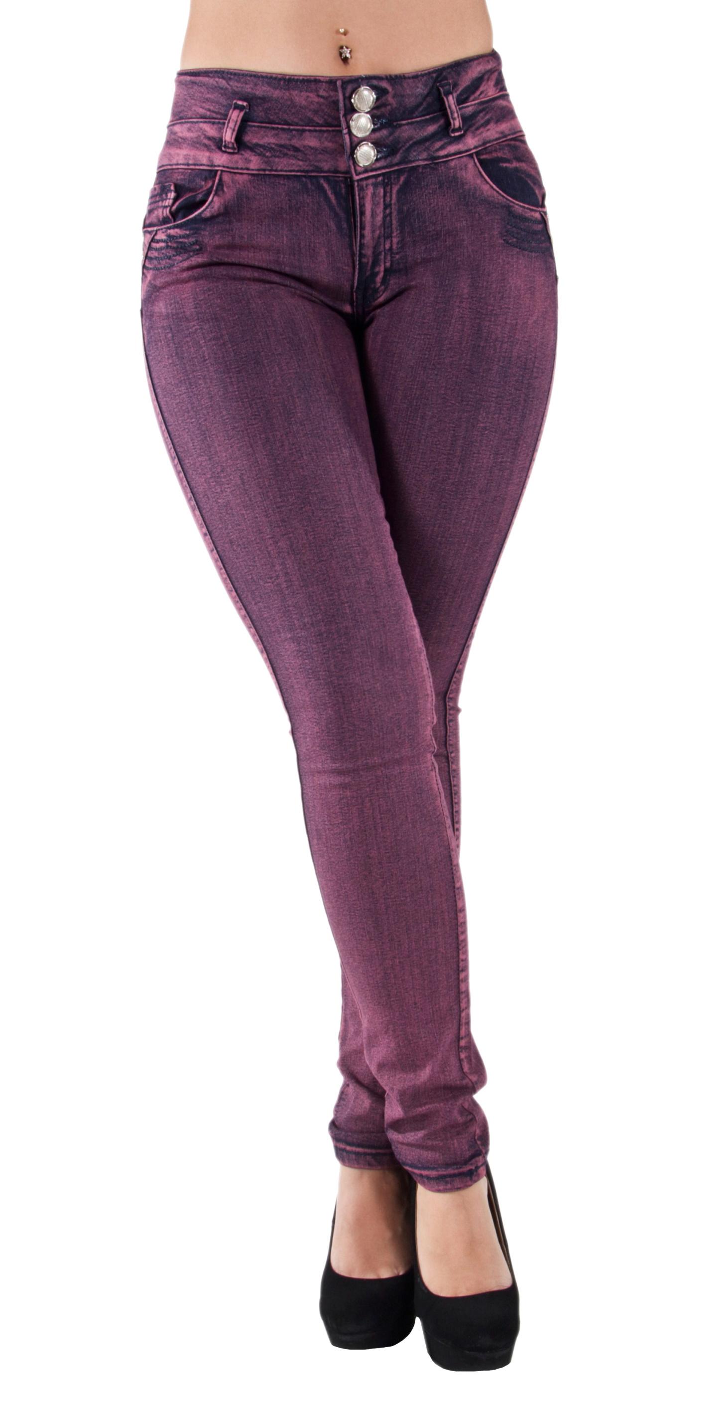 Plus-Junior-Size-Butt-Lift-Levanta-Cola-Skinny-Denim-Women-Jeans thumbnail 12