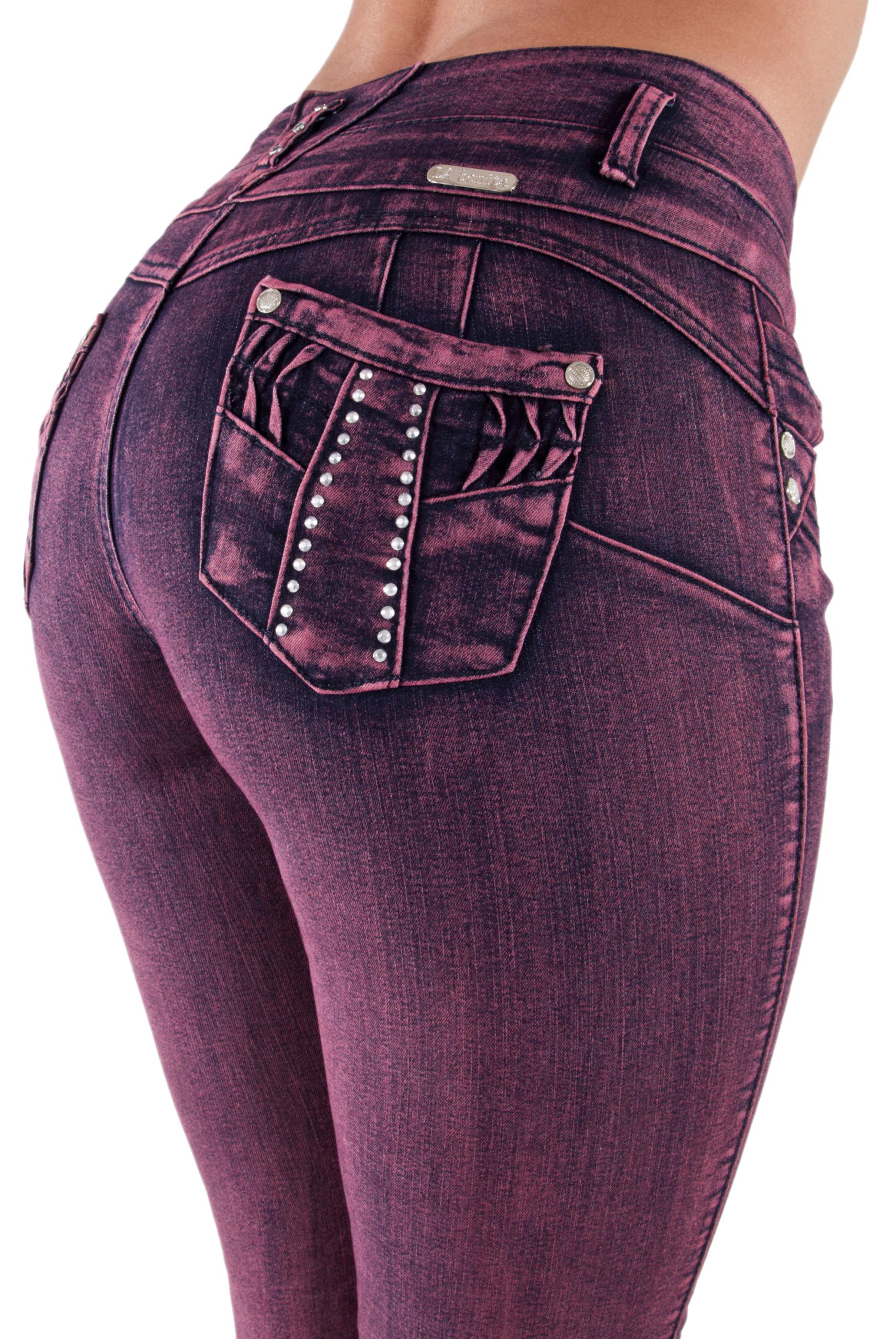 Plus-Junior-Size-Butt-Lift-Levanta-Cola-Skinny-Denim-Women-Jeans thumbnail 9