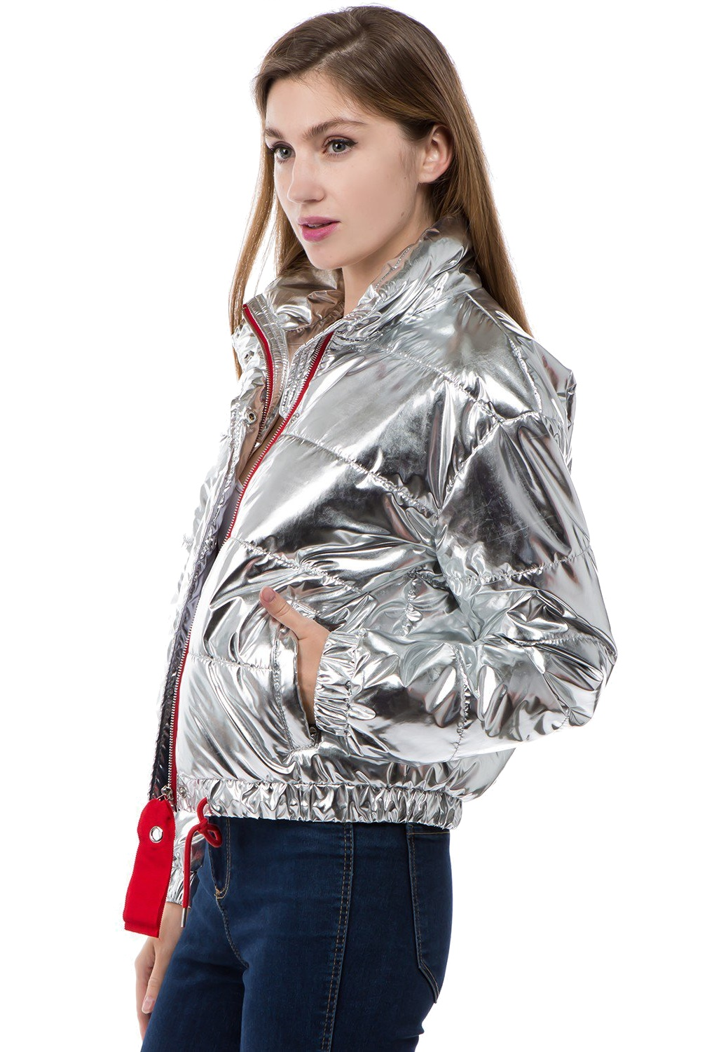 Women-039-s-Juniors-Metallic-Quilted-Poly-Filled-Winter-Fall-Fashion-Jacket-Coat thumbnail 11