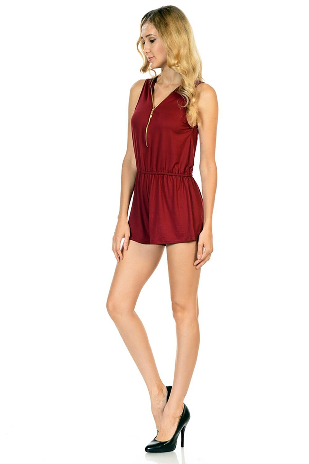 Style-C84-Sleeveless-Sexy-Short-Romper-Jumpsuit-with-Zipper thumbnail 13