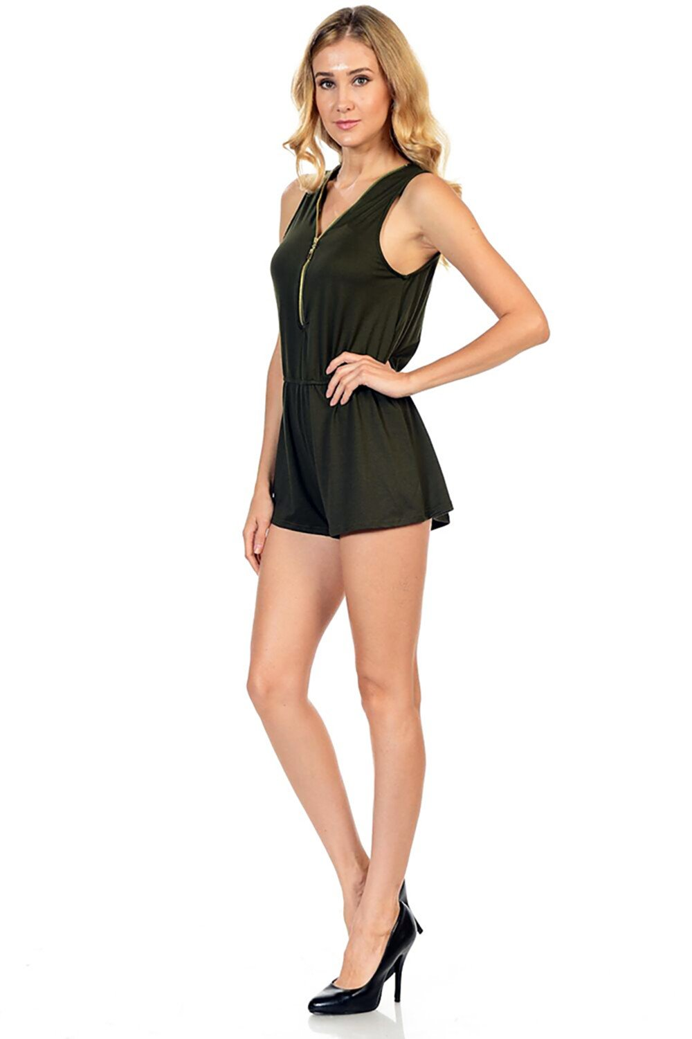 Style-C84-Sleeveless-Sexy-Short-Romper-Jumpsuit-with-Zipper thumbnail 18