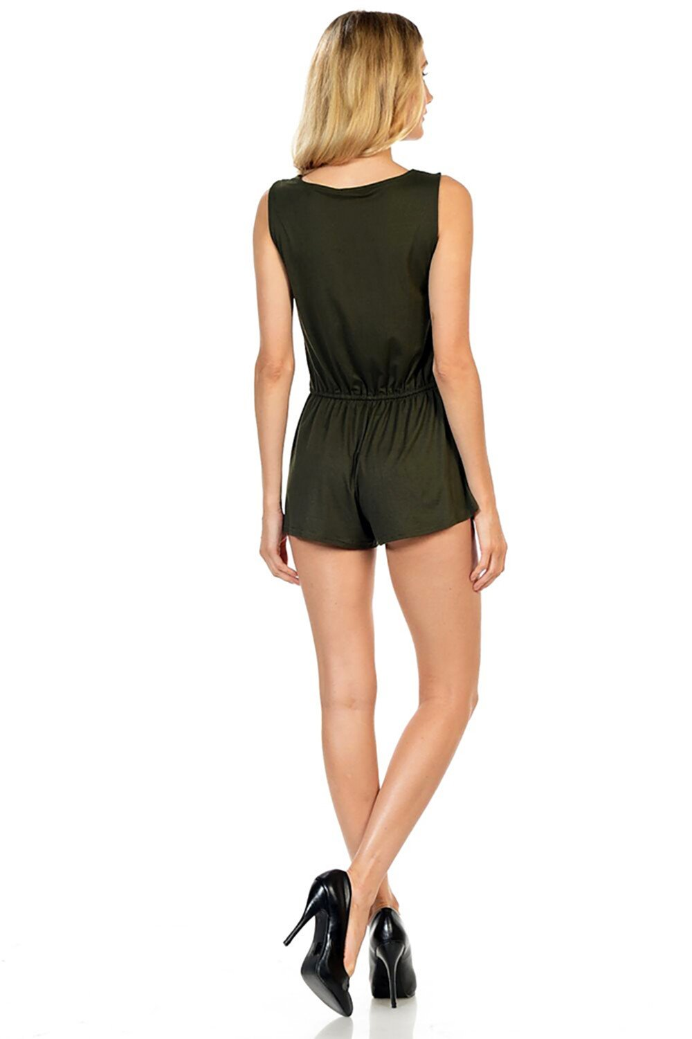 Style-C84-Sleeveless-Sexy-Short-Romper-Jumpsuit-with-Zipper thumbnail 20