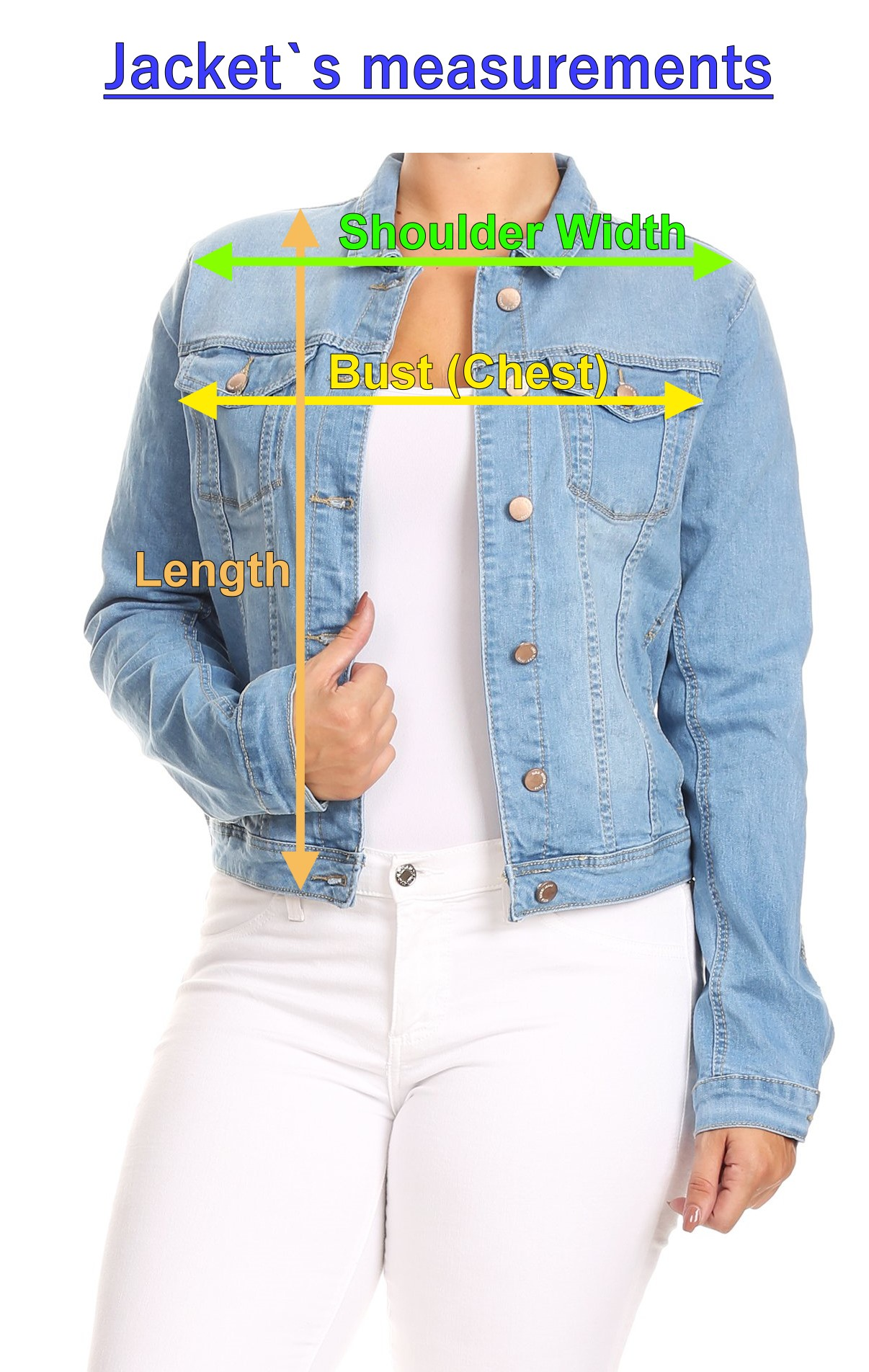 Women-039-s-Juniors-Boyfriend-Premium-Denim-Jackets-Long-Sleeve-Jean-Coats thumbnail 13