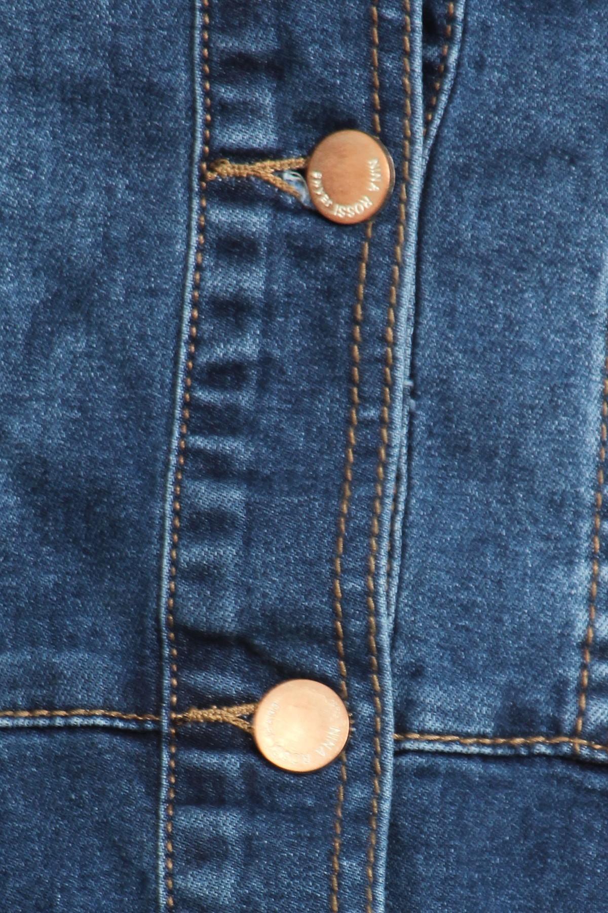 Women-039-s-Juniors-Premium-Denim-Peplum-Bodice-Long-Sleeve-Jacket thumbnail 11