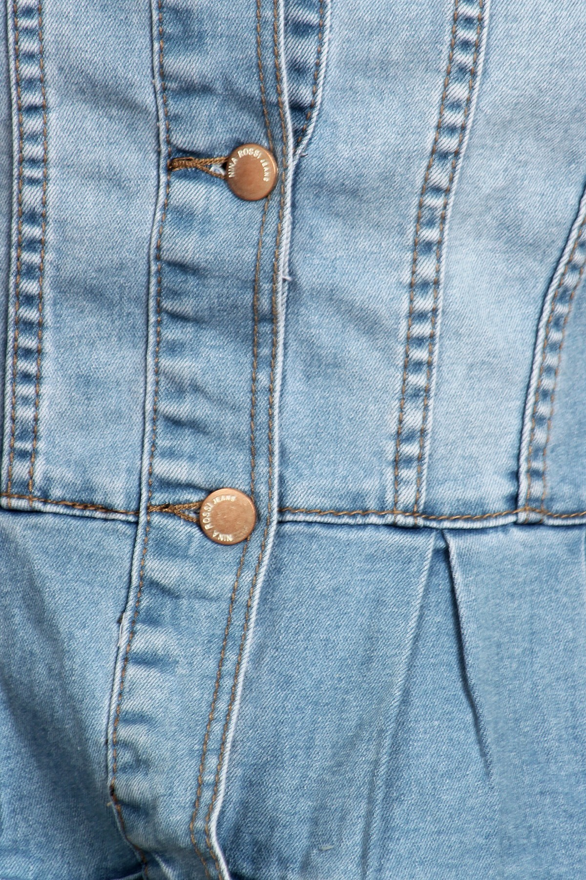 Women-039-s-Juniors-Premium-Denim-Peplum-Bodice-Long-Sleeve-Jacket thumbnail 17