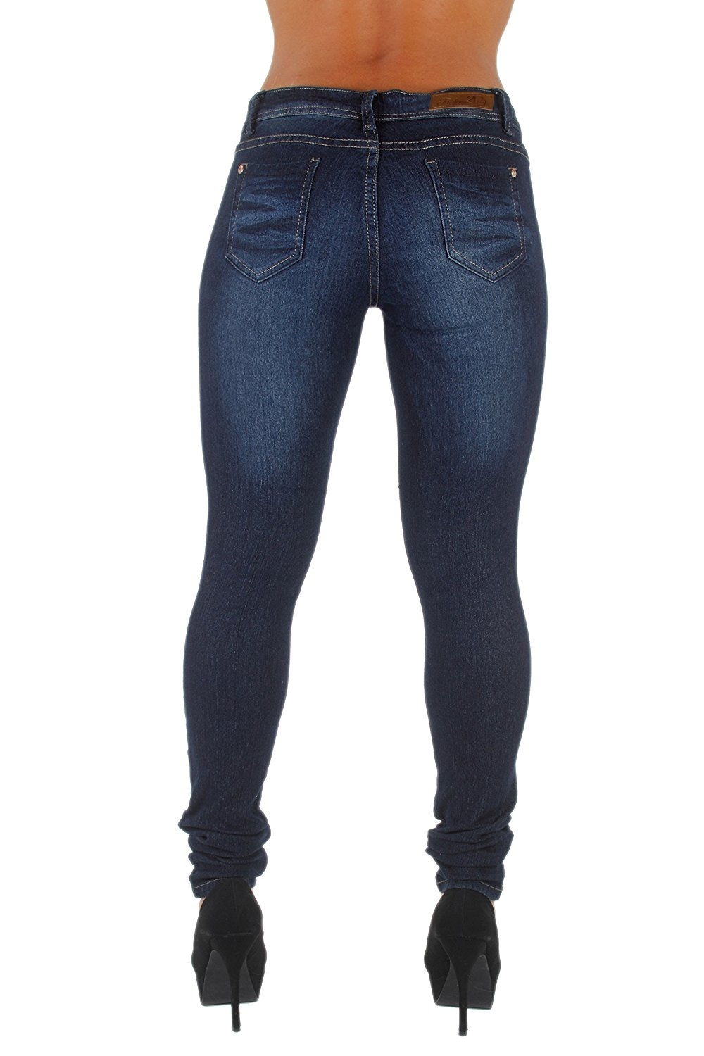 Plus-Size-Classic-5-Pockets-Washed-Skinny-Jeans thumbnail 10