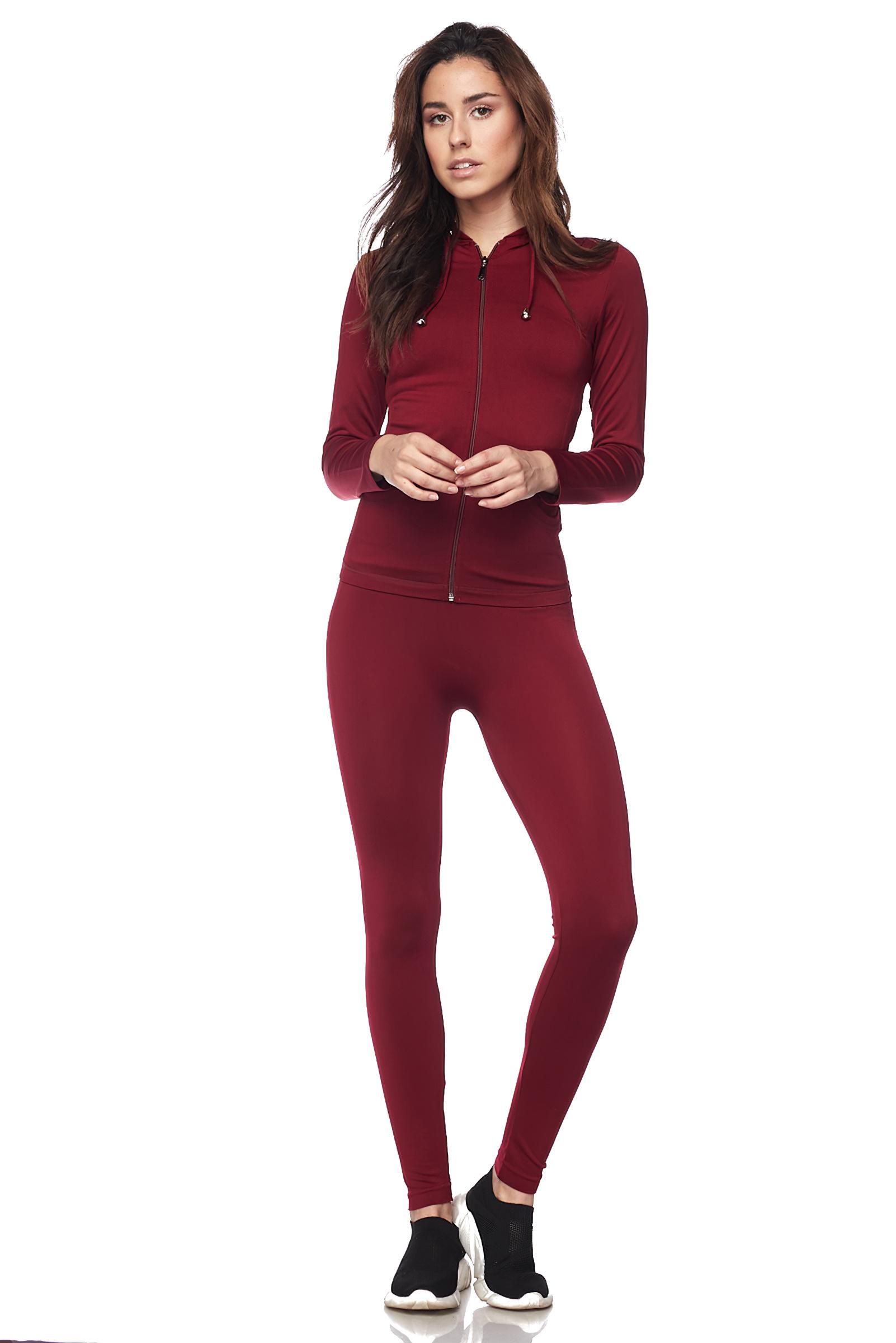 Women-039-s-Juniors-Active-Set-Wear-Zip-Up-Hoodie-and-Legging thumbnail 21