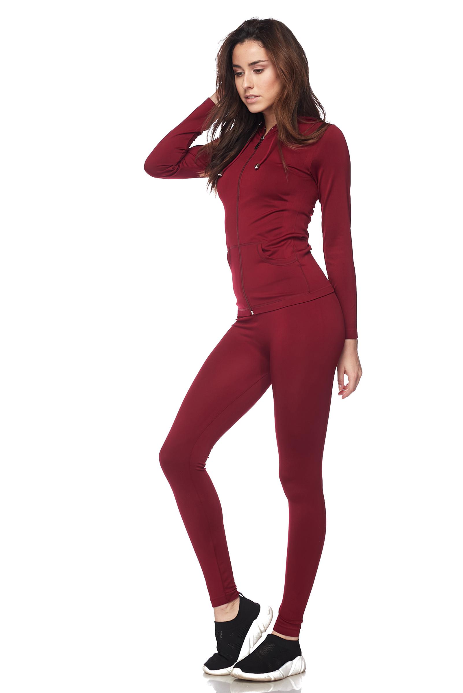 Women-039-s-Juniors-Active-Set-Wear-Zip-Up-Hoodie-and-Legging thumbnail 16