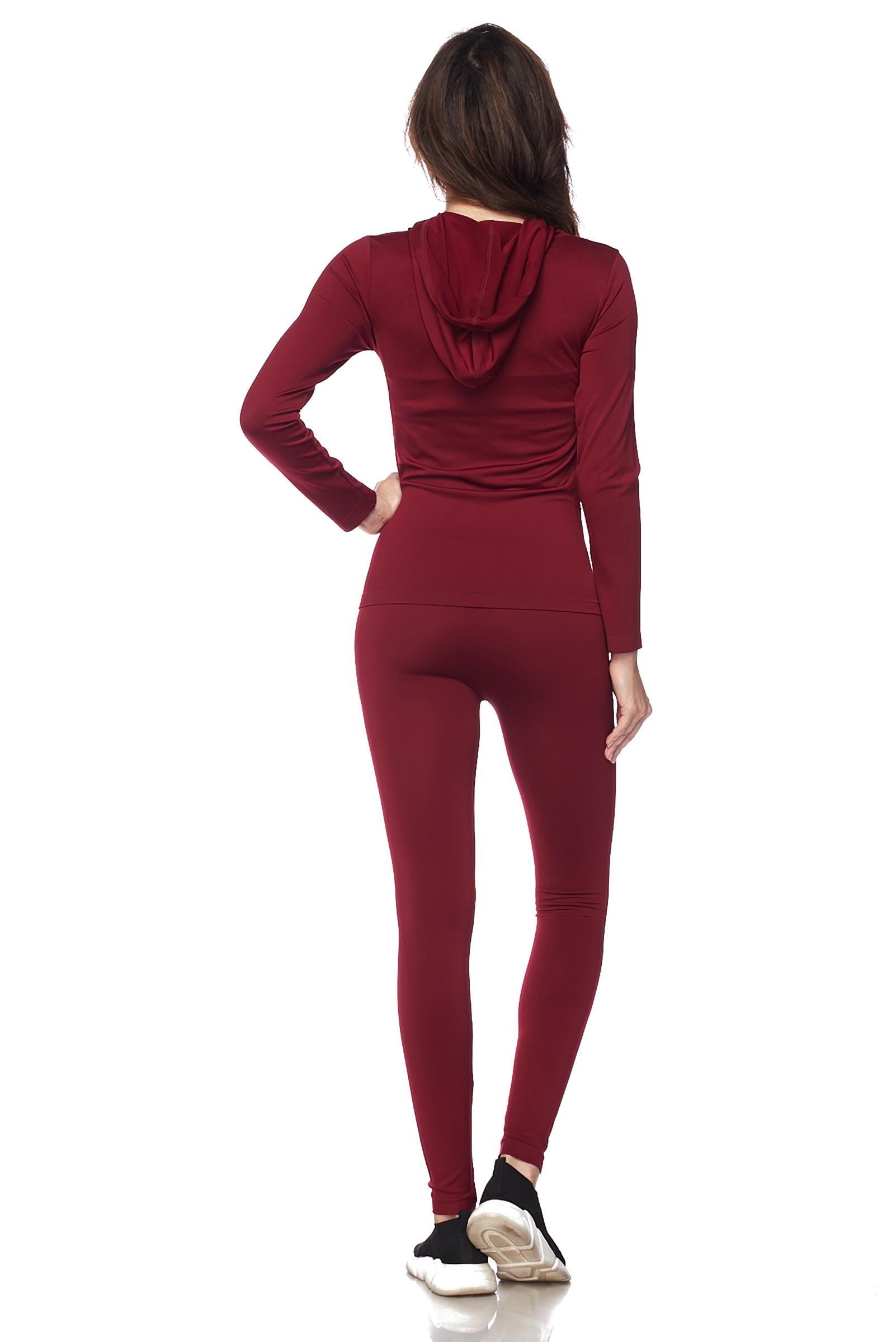 Women-039-s-Juniors-Active-Set-Wear-Zip-Up-Hoodie-and-Legging thumbnail 18