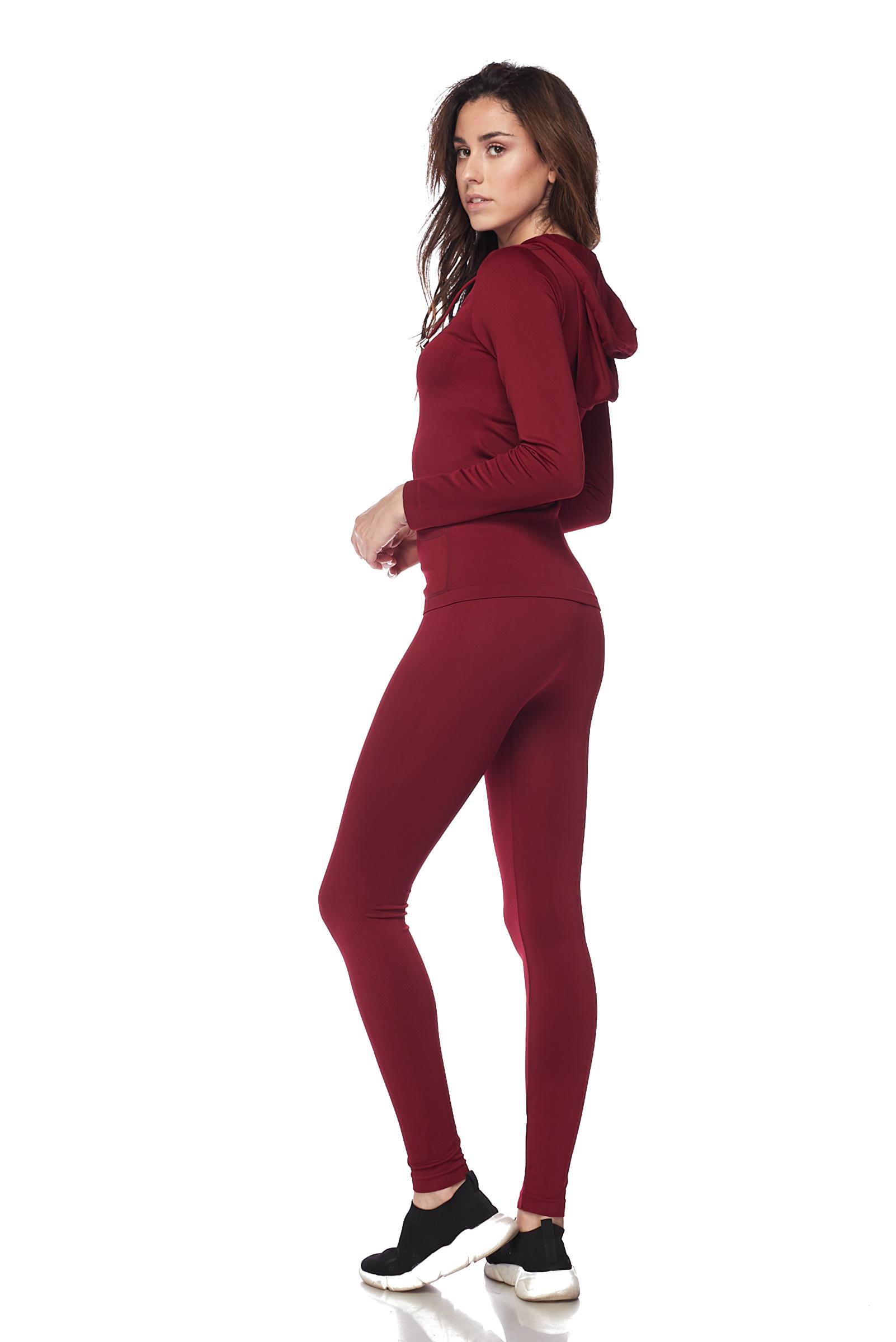 Women-039-s-Juniors-Active-Set-Wear-Zip-Up-Hoodie-and-Legging thumbnail 19